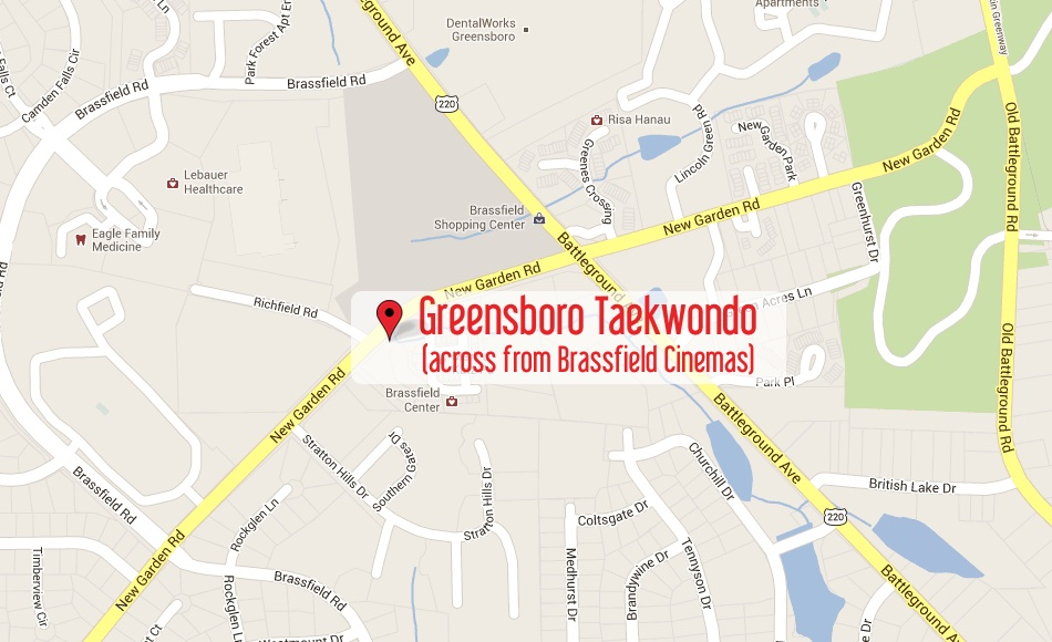Click the map to get driving directions to Greensboro Taekwondo America karate and martial arts in Greensboro NC.