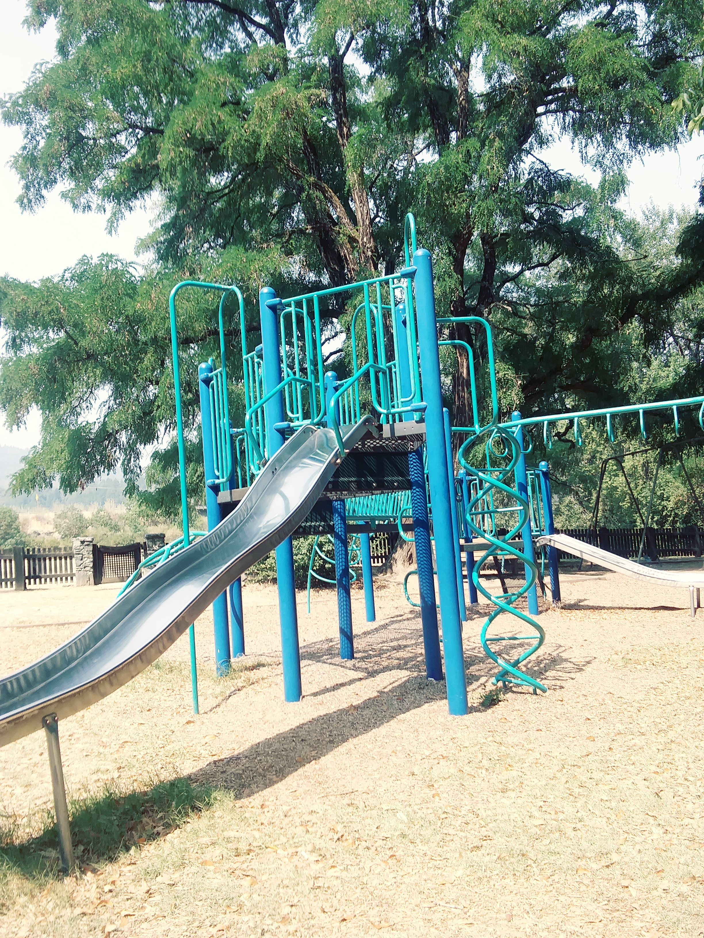 The playground equipment at Little Tooby Park -