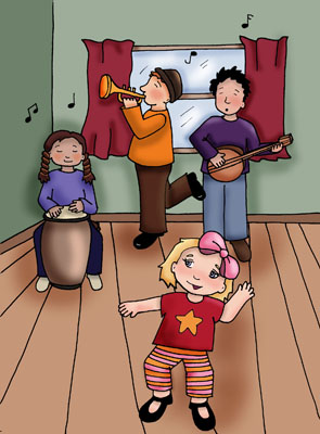 Childrens_Book_-_Ink_and_Photoshop_GirlAndBand.jpg