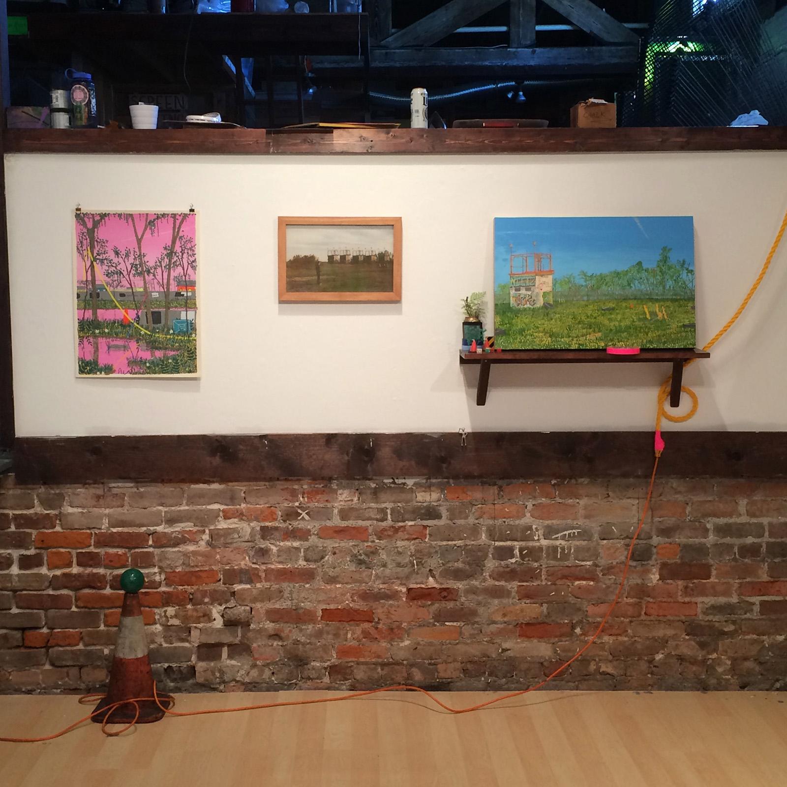 "Installation View  From ""New Work"" w/ Bruce Drinnon New Orleans Community Printshop & Darkroom February 2017"