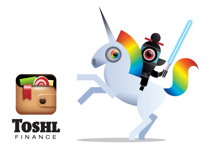 This is a Toshl Monster, on a unicorn, with a light sabre.