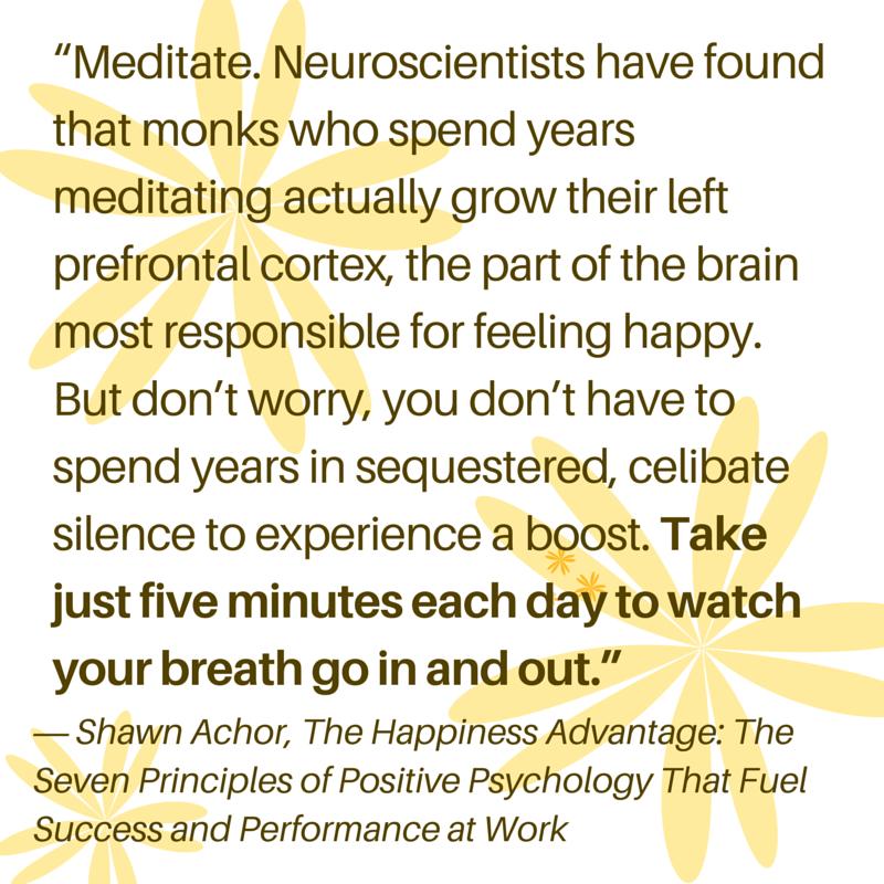 Shawn Achor on meditation