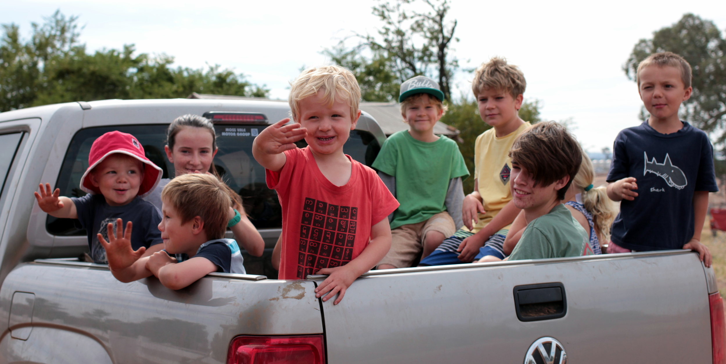 How many kids can you fit in the back of a ute?