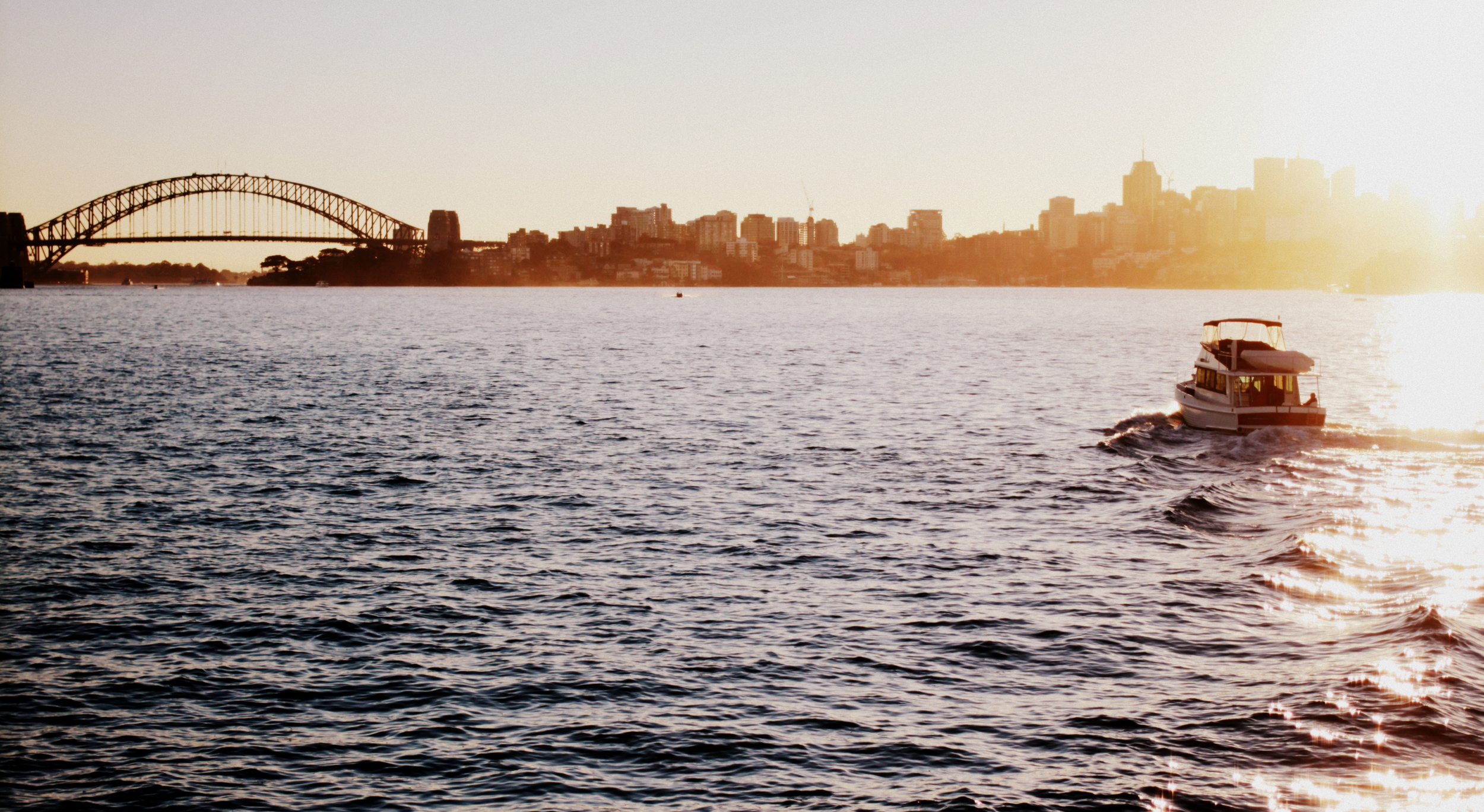 Late afternoon on Sydney harbour at the end of a perfect day.
