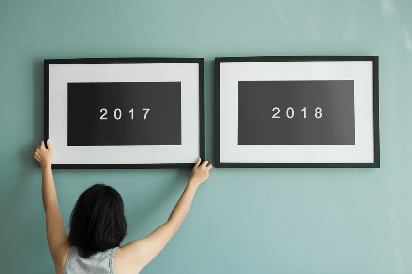 New year concept. 2016 to 2017.