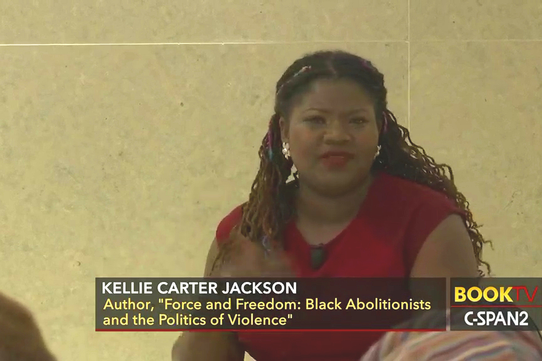 Wellesley College Africana Studies Professor Kellie Carter Jackson provided a history of the use of violence by black abolitionists.