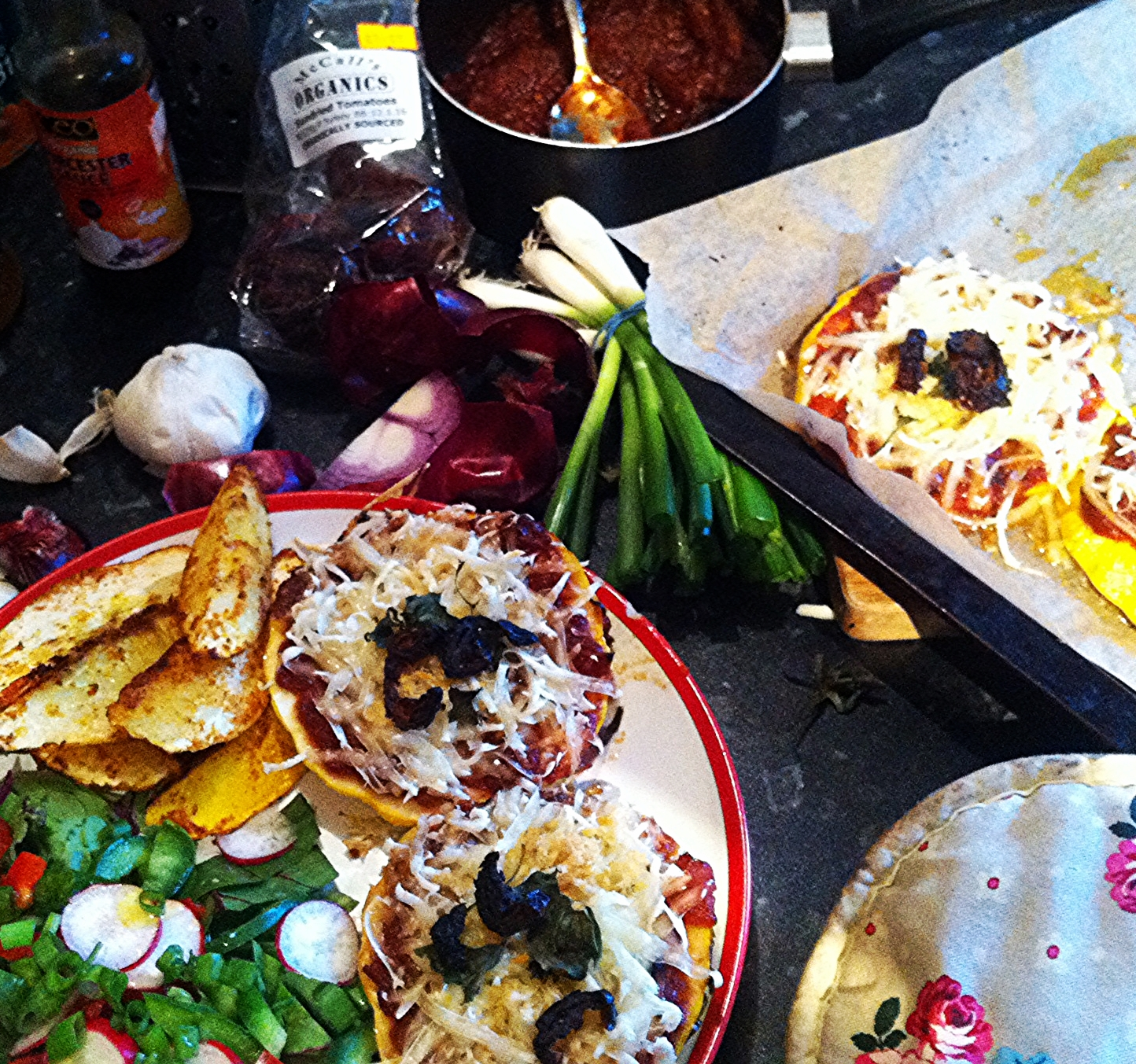 Pattypan Pizza and Wedges