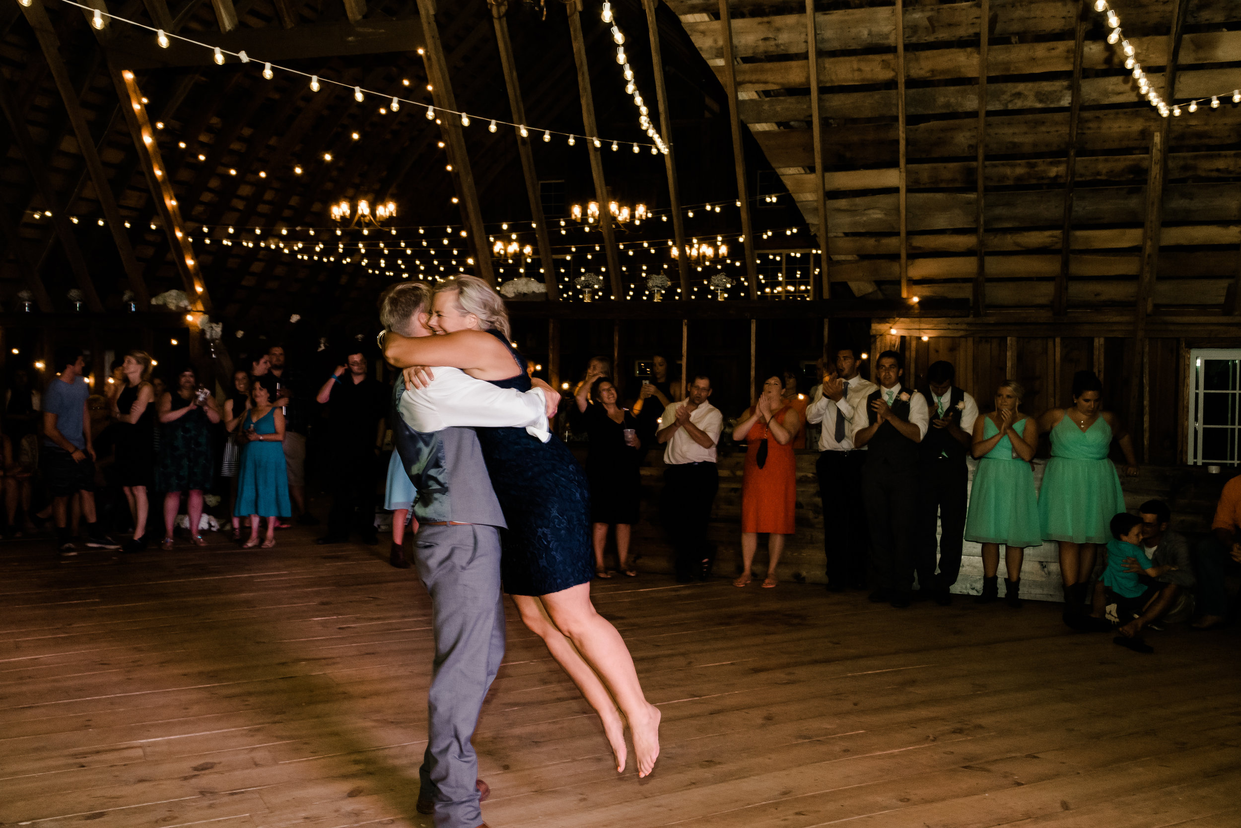 Mother Son Dance at Bloom Lake Barn, Shafer, MN Wedding Photography