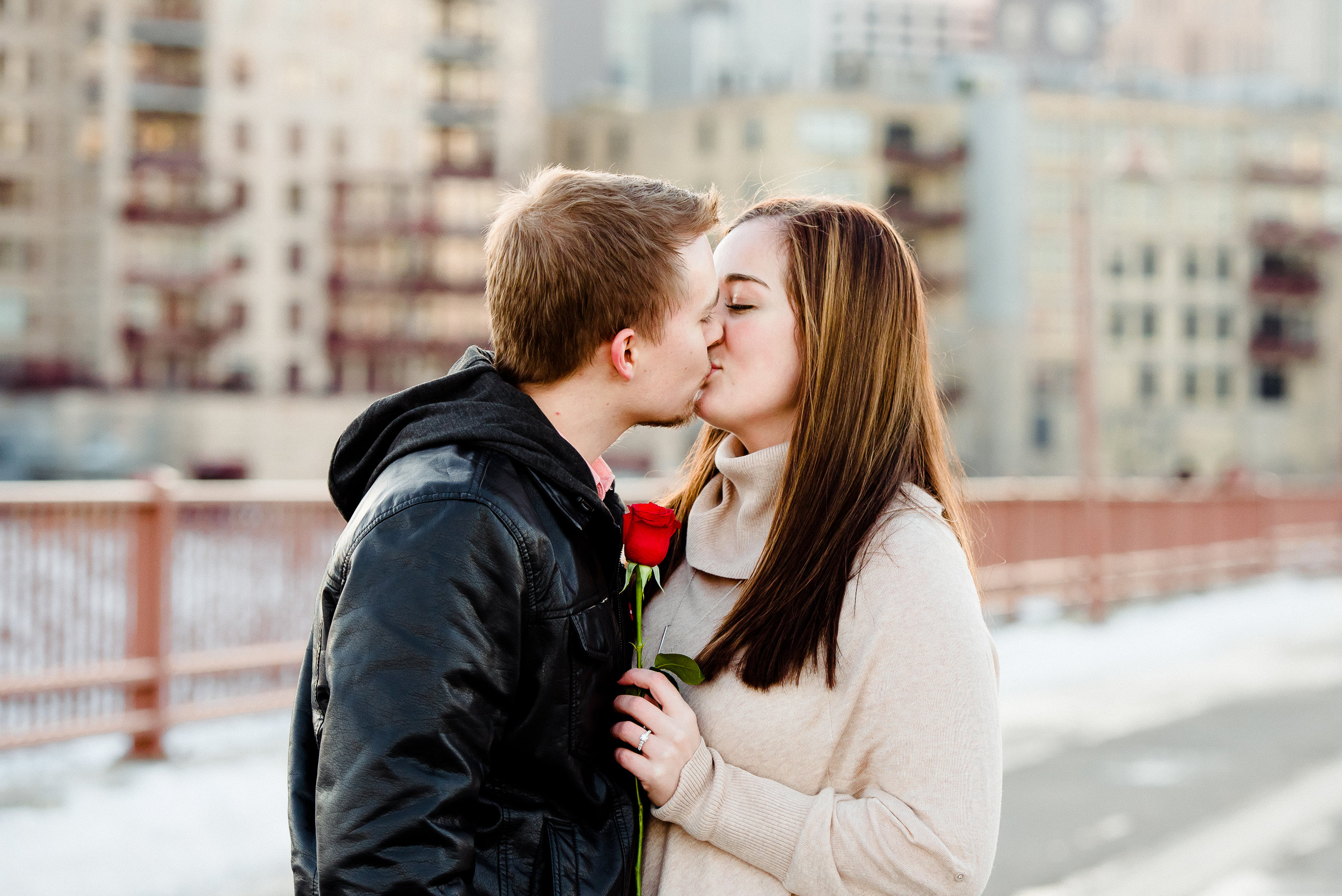 How He Asked - Winter Proposal at Stone Arch Bridge in Minneapolis, MN - Twin Cities Minnesota's best proposal photographer