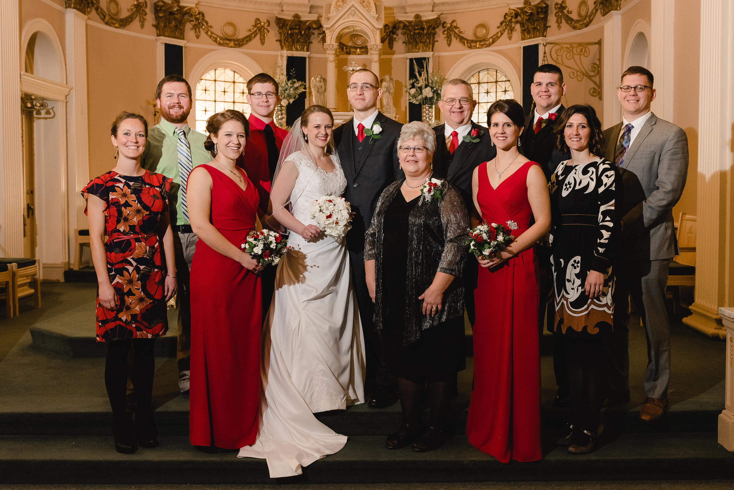 Classic Family Formal Wedding Portrait - Delano, MN Wedding Photographer