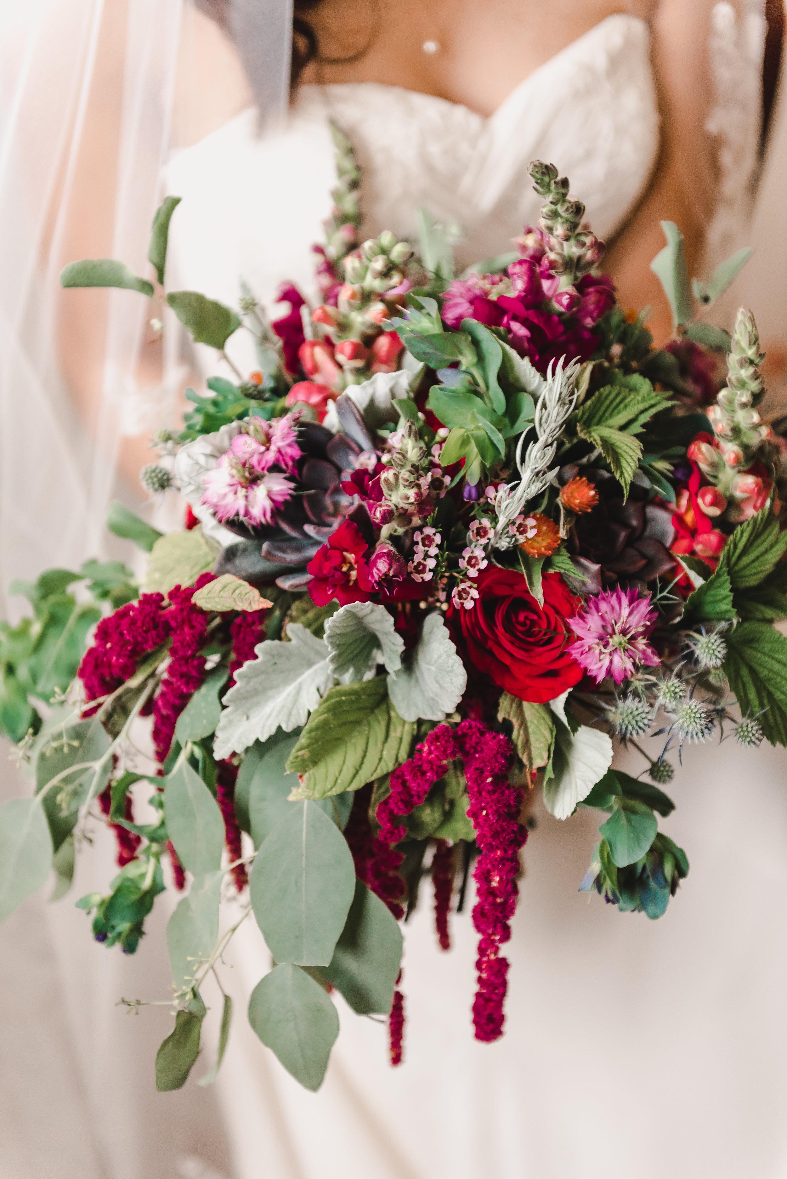 Oversized, Garden-Fresh Organic Wedding Bridal Bouquet from Lyons Farmette