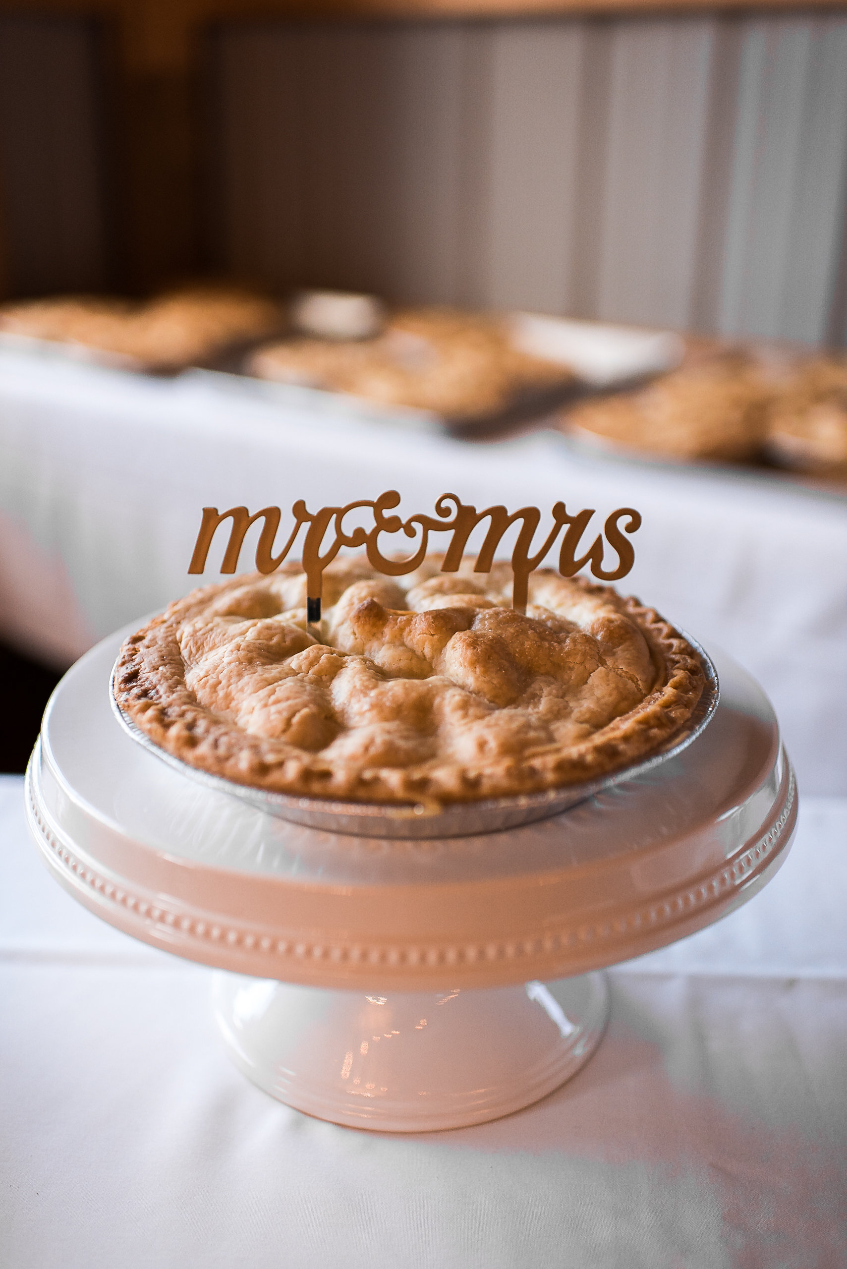 Apple pies instead of wedding cake non-traditional wedding cake substitute - apple orchard wedding pie cake