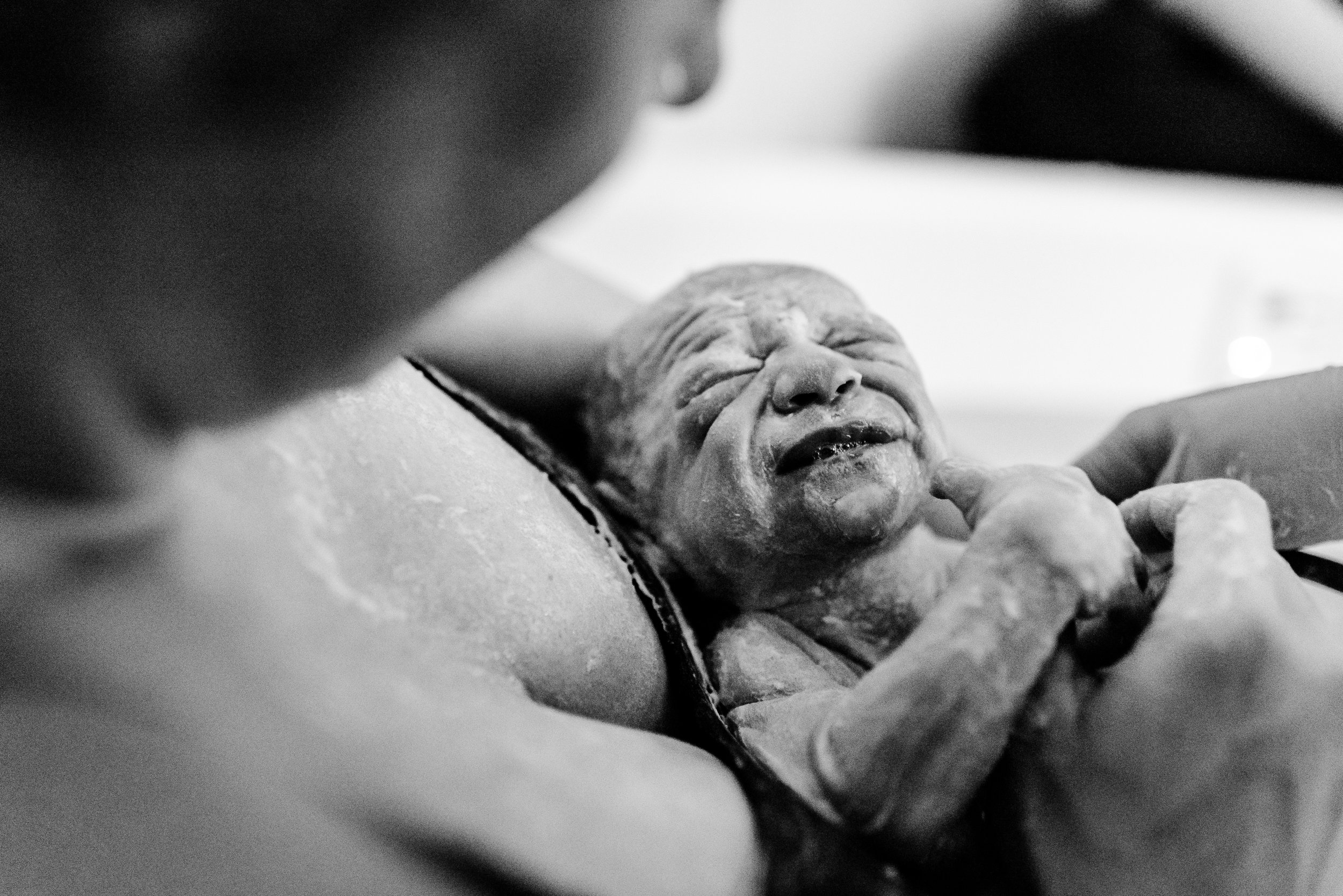 Vernix Baby - Water Birth at Health Foundations Birth Center in St. Paul, MN