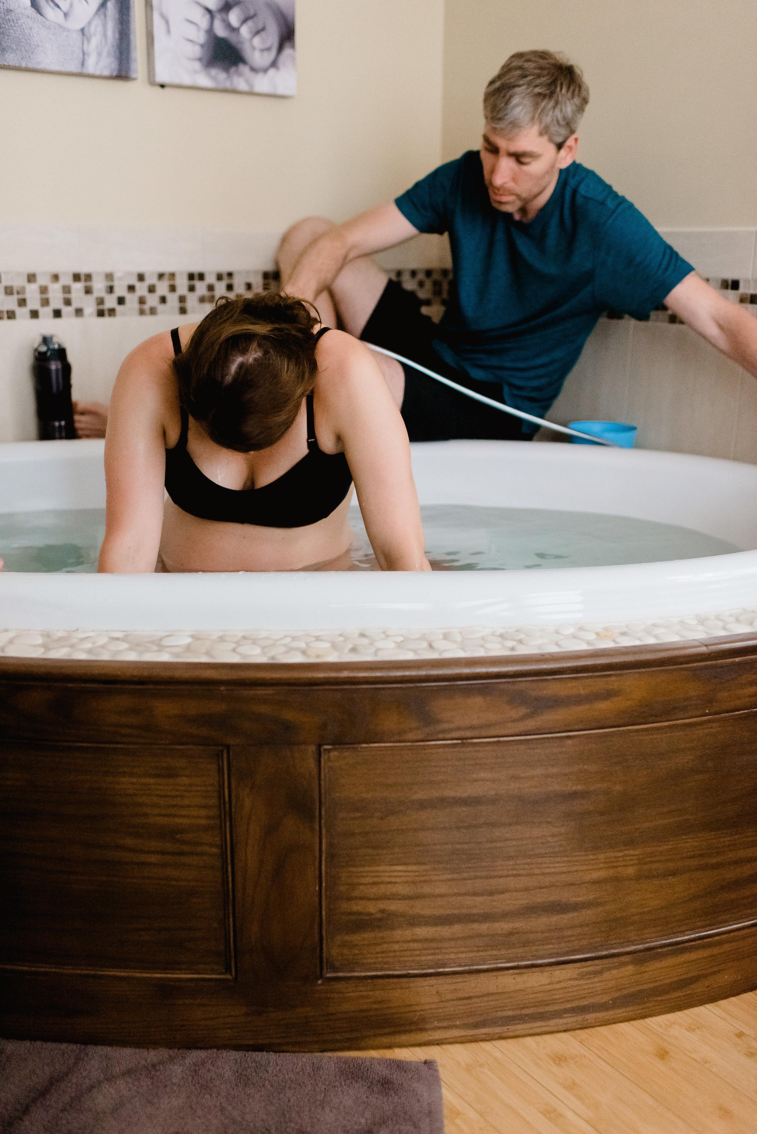 Water Birth at Health Foundations Birth Center - Birth Photography MN