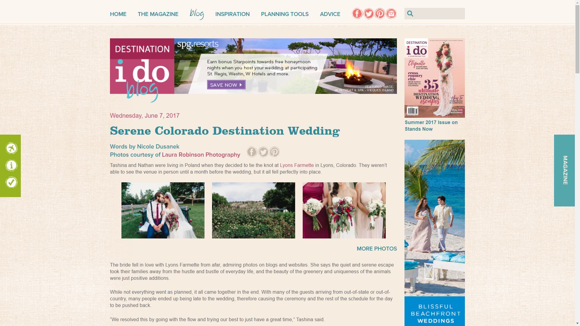Destination I Do Magazine Feature - Laura Robinson Photography