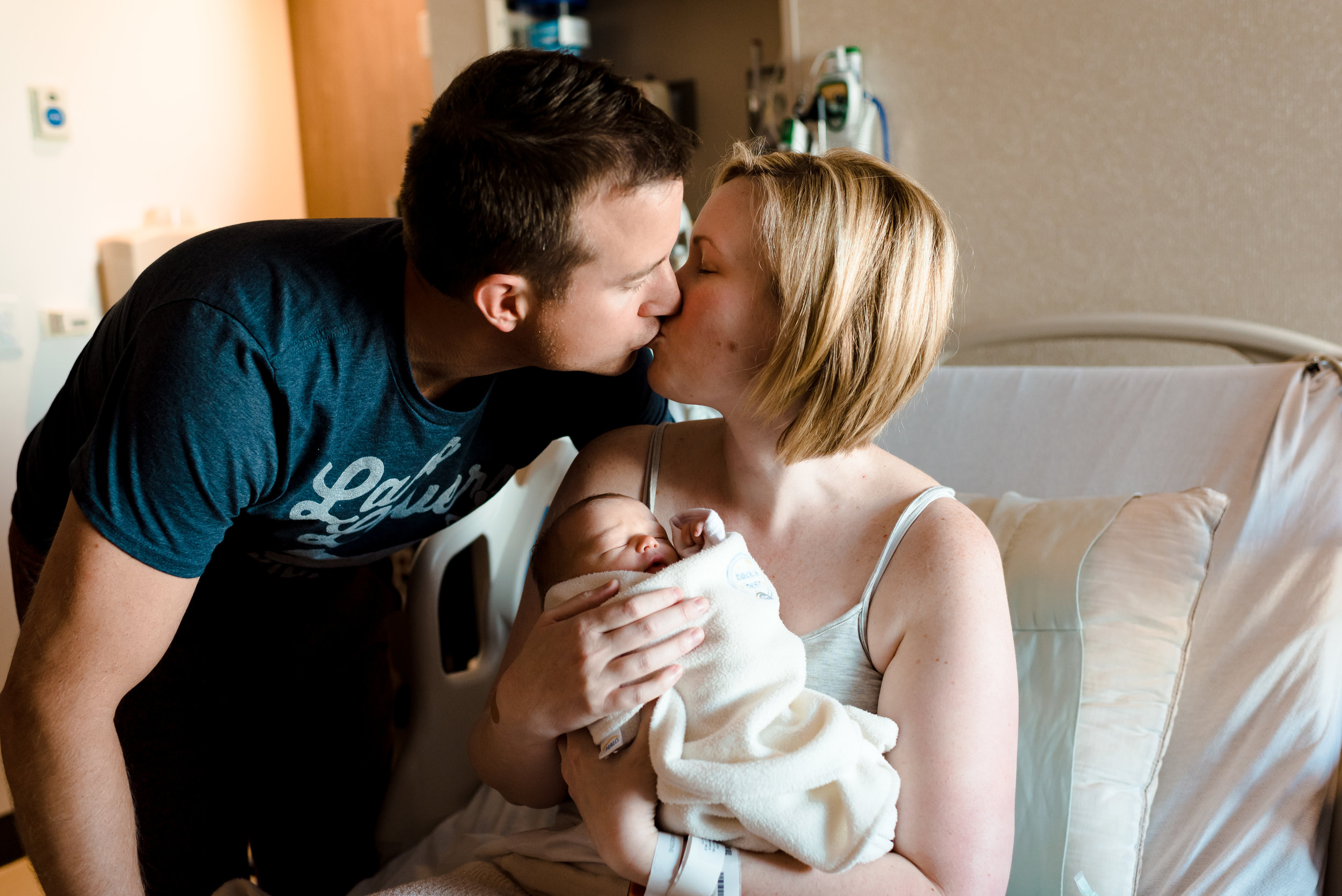 First family photo - fresh 48 session - Twin Cities baby photographer