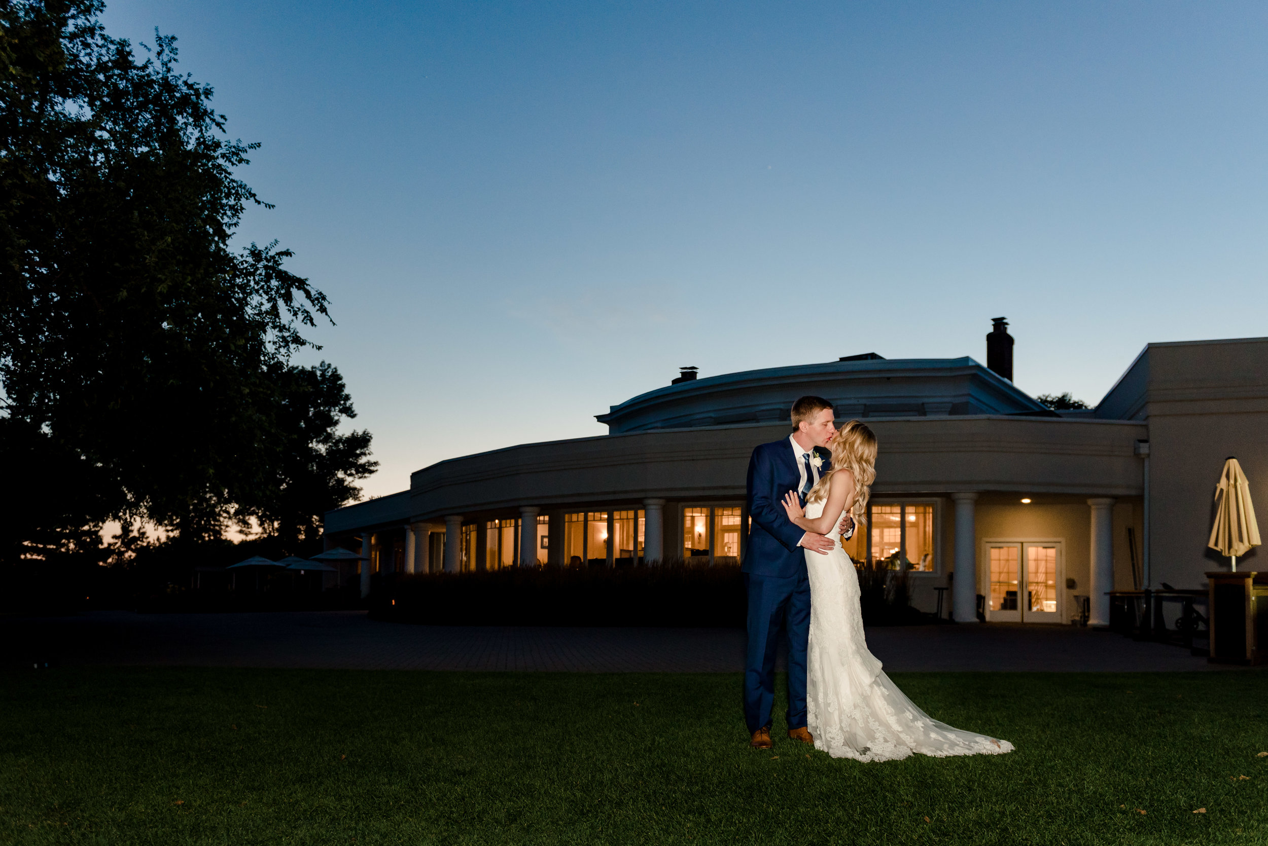 Minneapolis Golf Club Wedding Sunset Portrait - MN Wedding Photographer