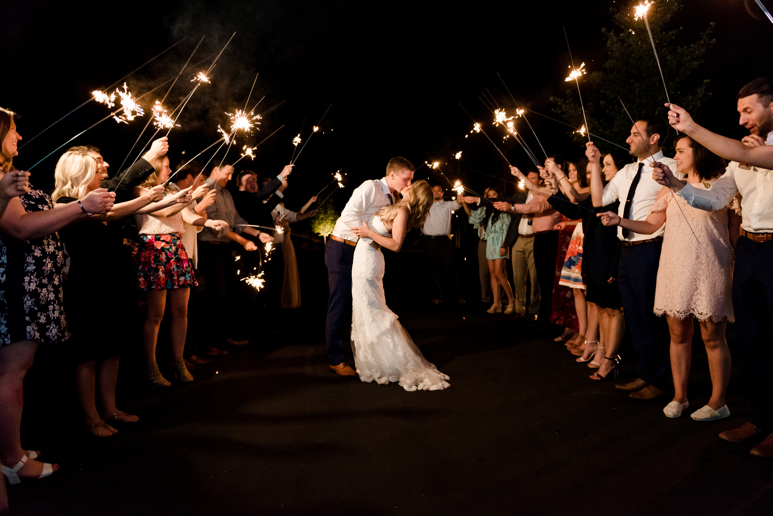 Minneapolis Wedding Photographer - Sparkler Exit