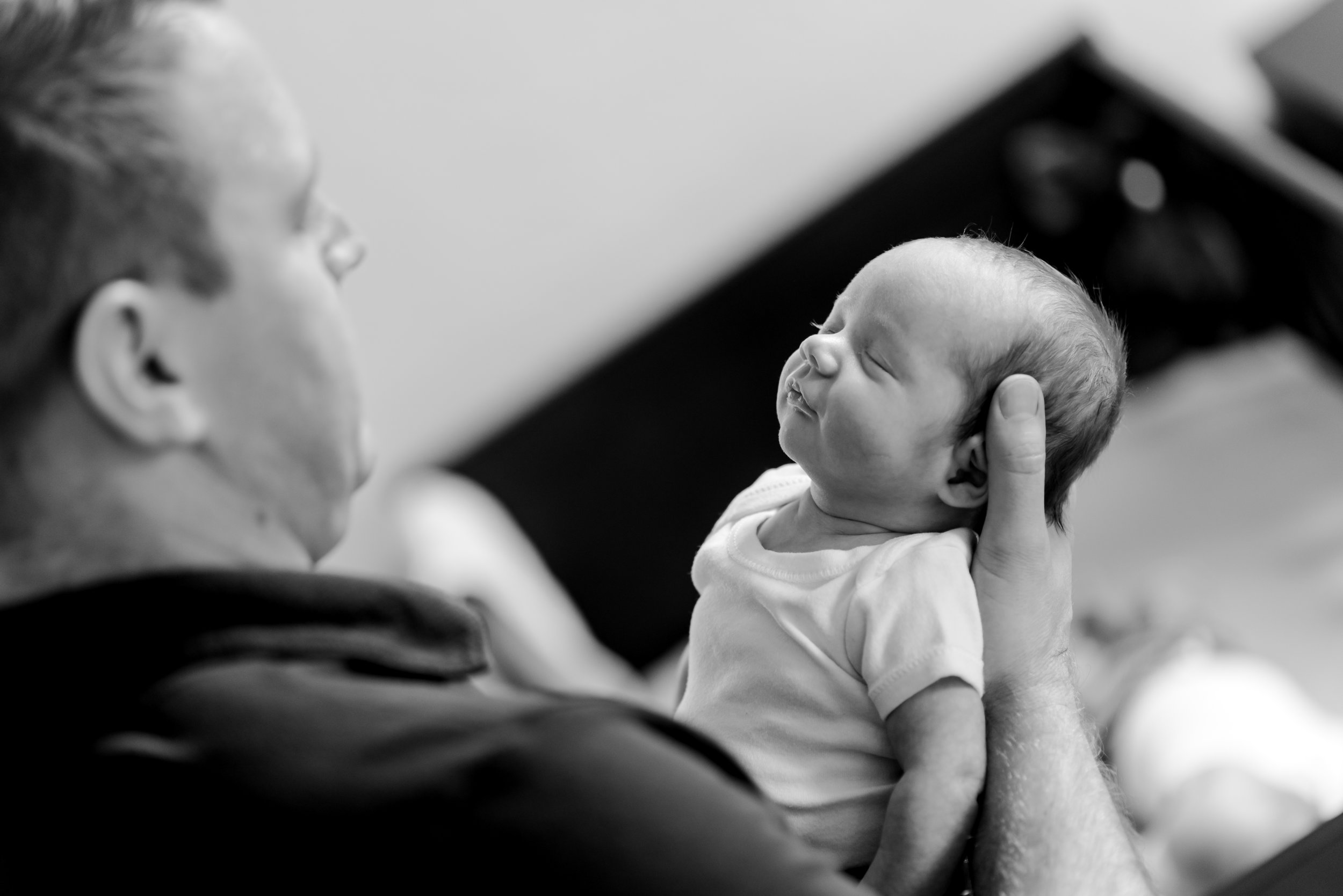 Kurtz Twins - In Home Newborn Session St Paul BW-20.jpg