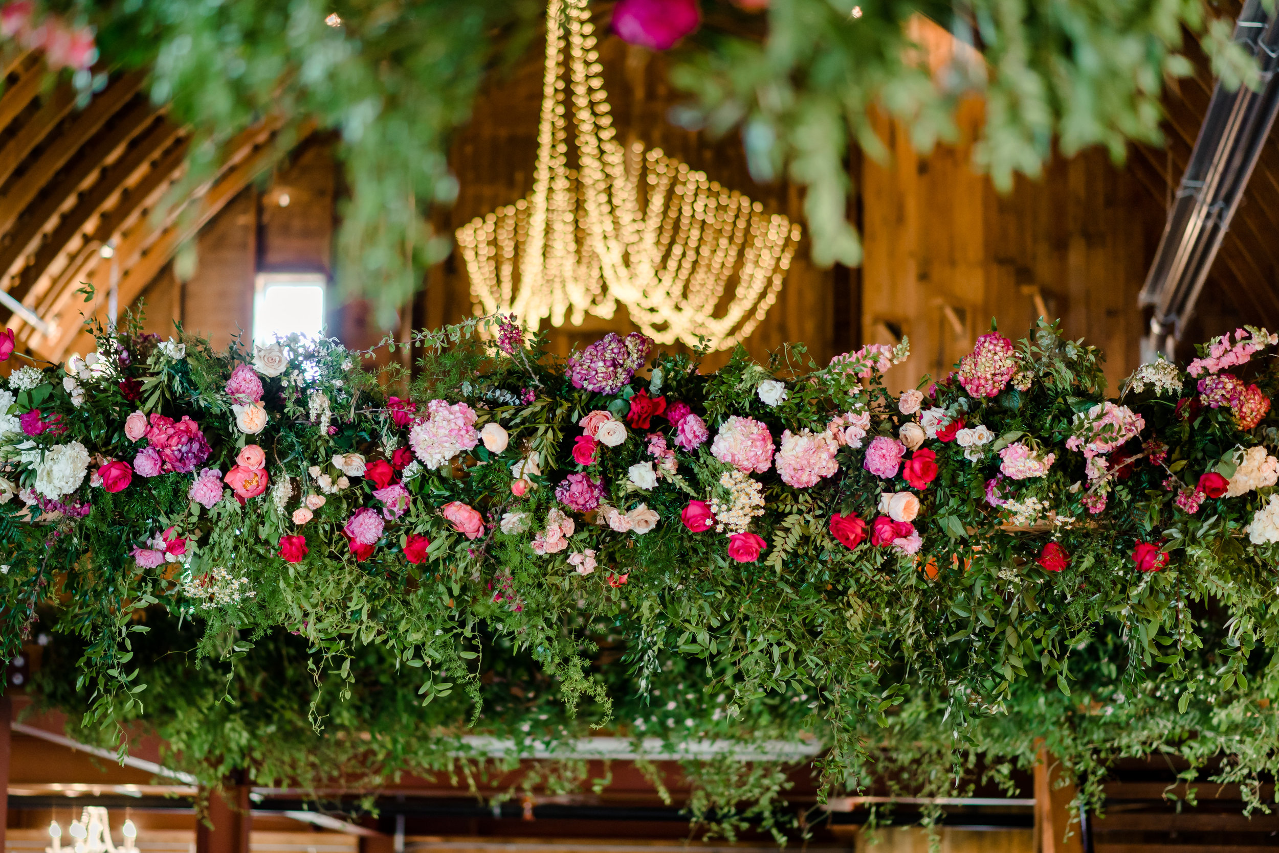 Munster Rose Reception Decor at Historic John P Furber Farm Wedding in Cottage Grove, MN - Best MN Wedding Photographer
