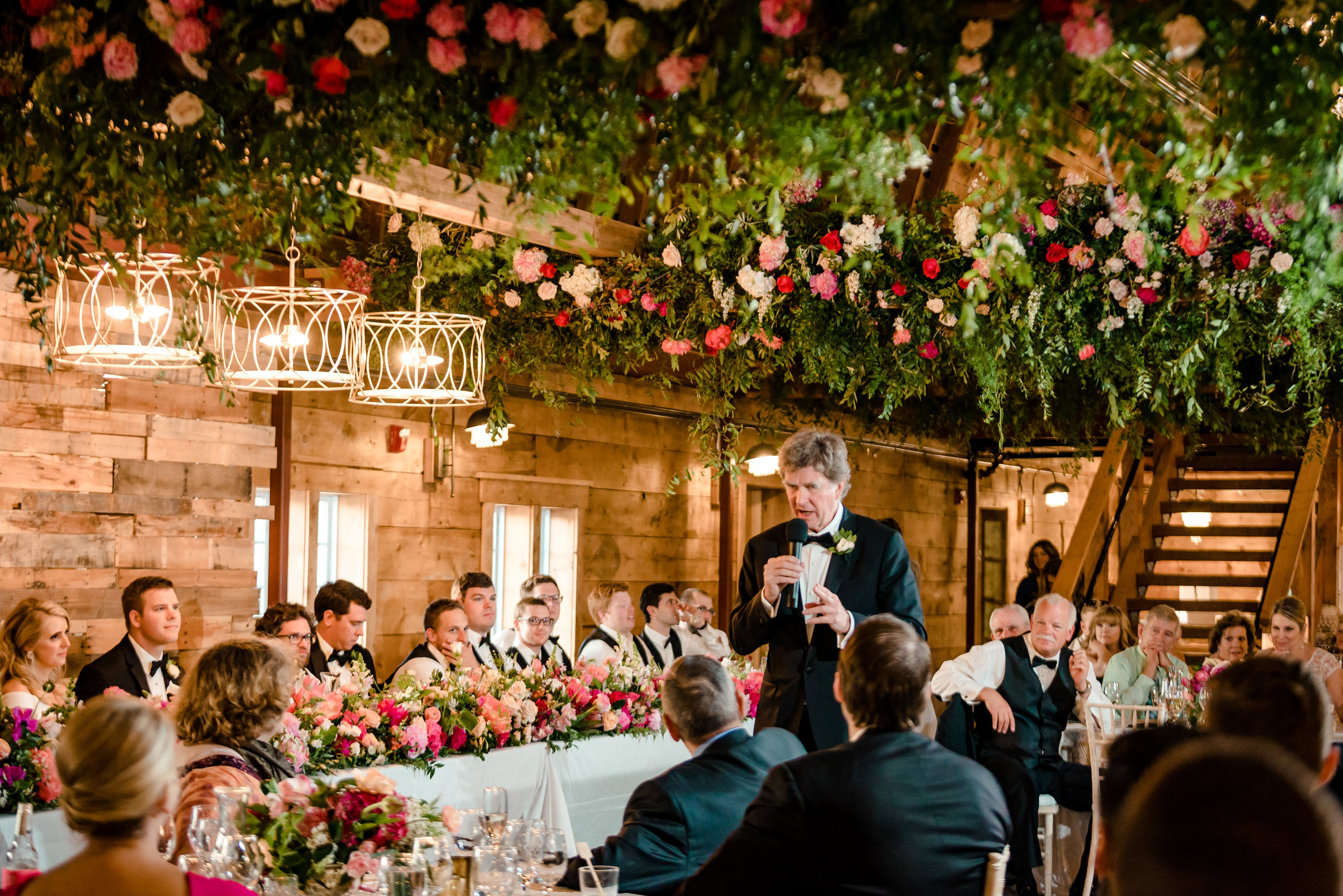 Father Toasts Bride at Historic John P Furber Farm Wedding - Cottage Grove, MN