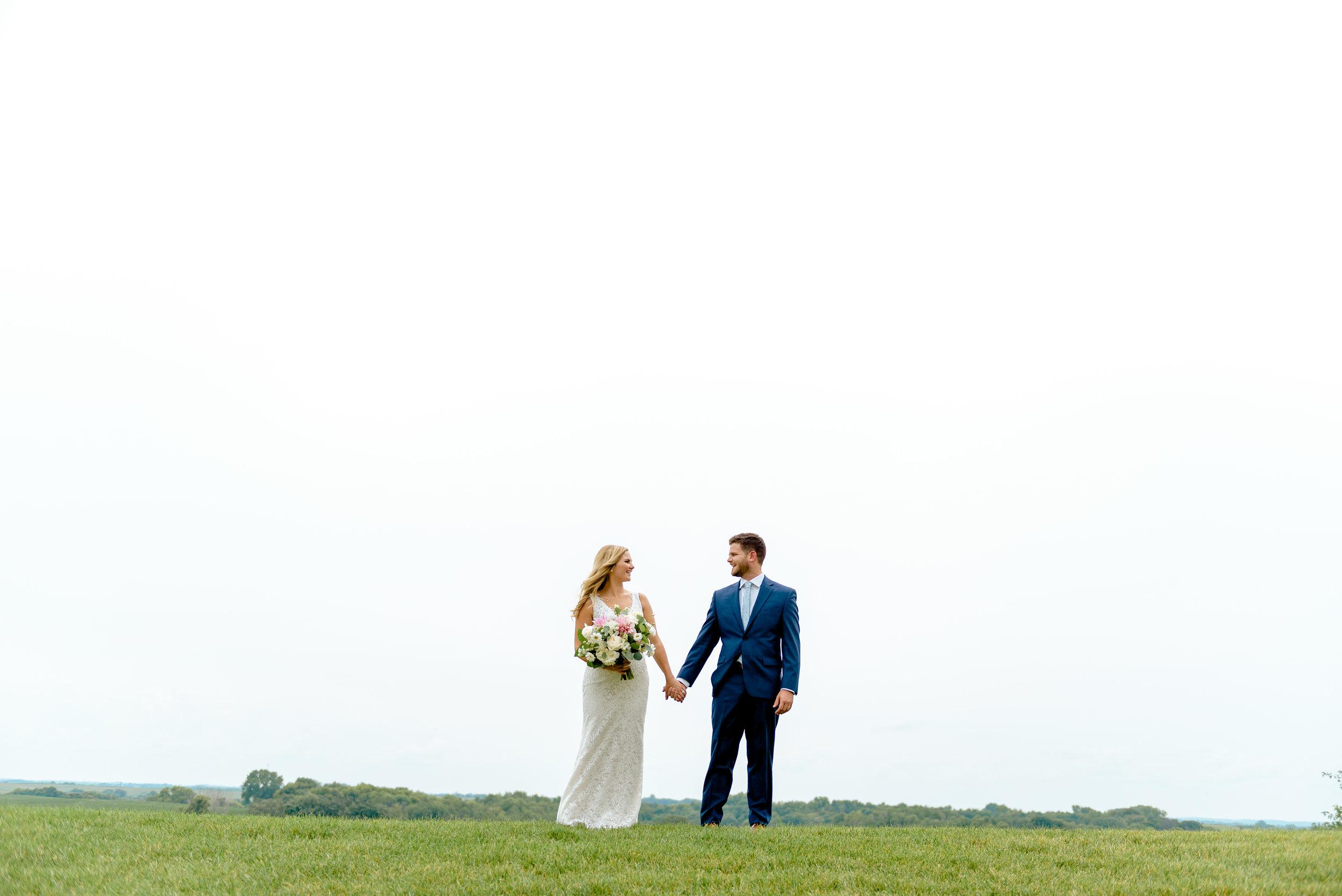 Legacy Hill Farm Wedding Photos on Hilltop - MN Best Wedding Photographer