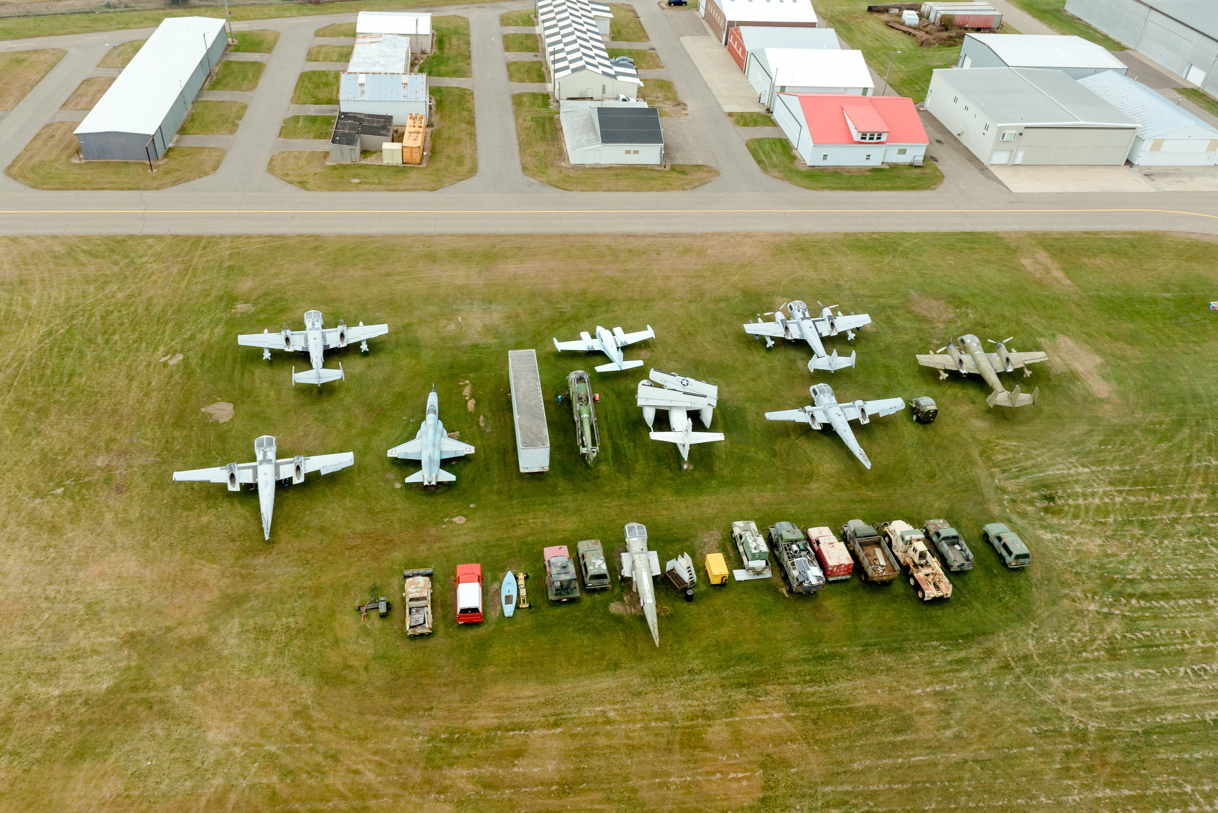 Aerial View of Planes at Blaine Airport - Minnesota Photographer