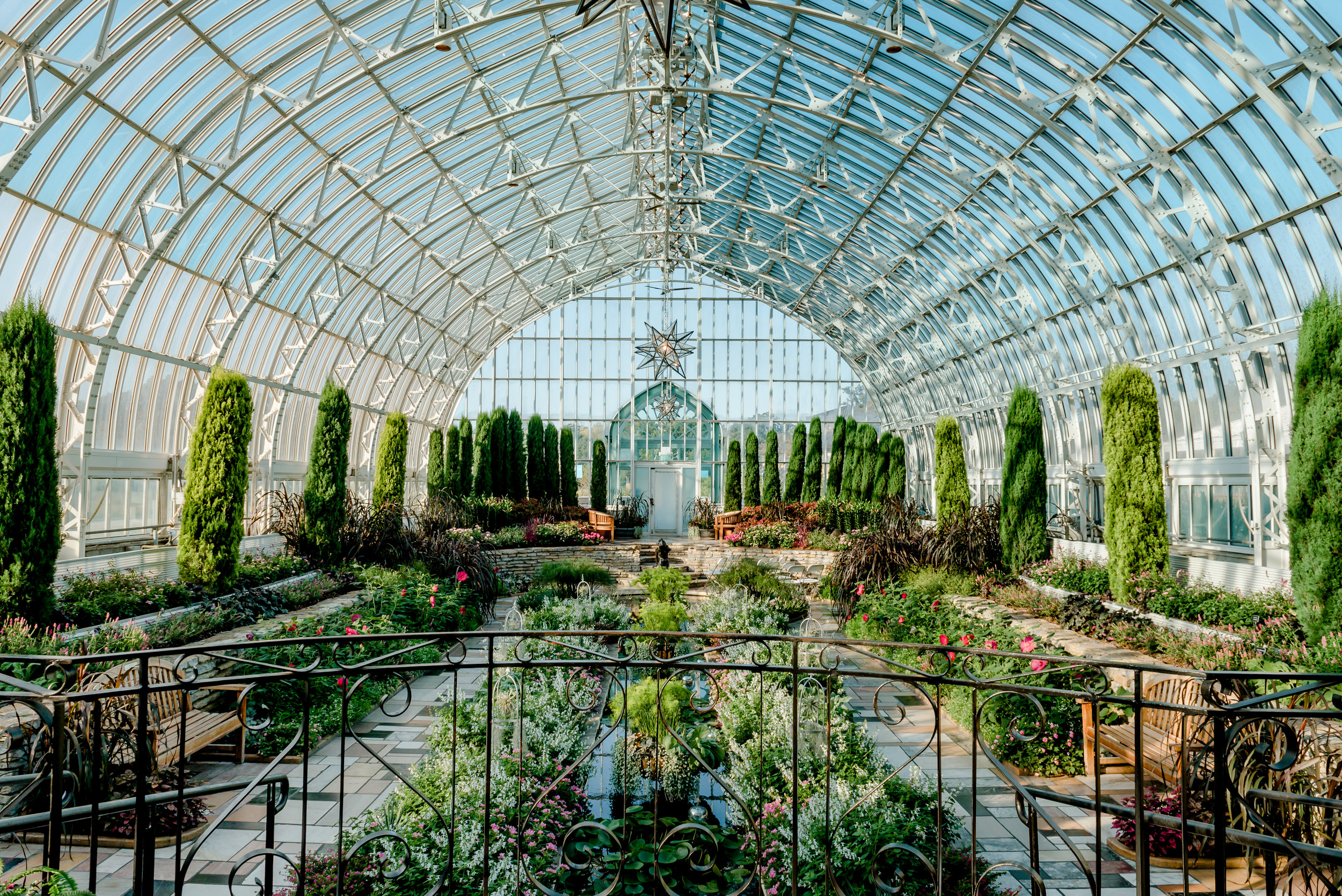 Sunken Gardens at Marjorie McNeely Conservatory at Como Zoo - St. Paul Wedding Photographer