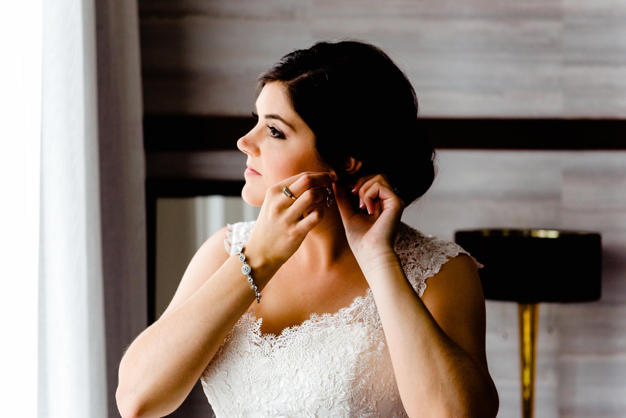 Hotel Ivy Wedding - Bride in Bridal Suite  - Minneapolis Romantic Wedding Photographer