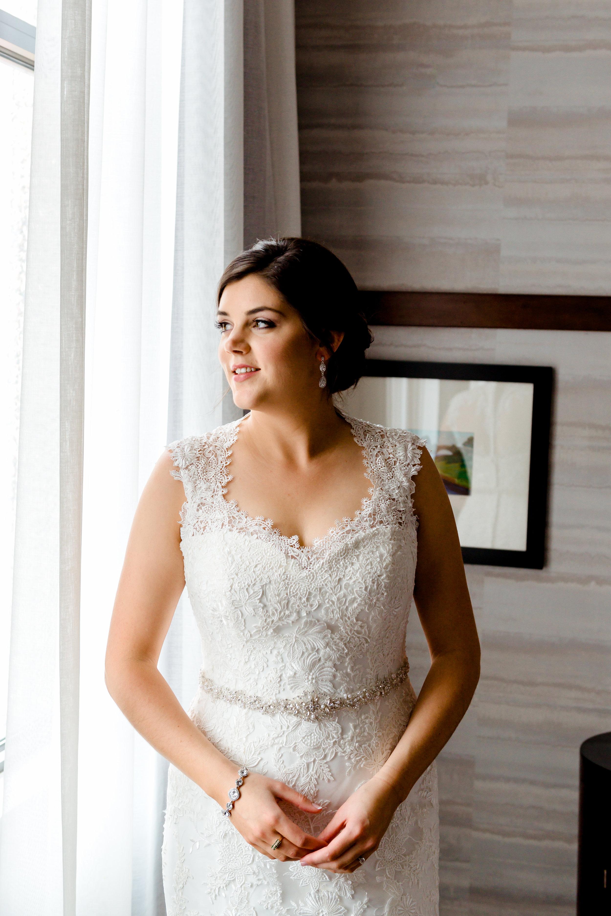 Hotel Ivy Wedding - Romantic Bridal Portraits with Window Light - Minneapolis Luxury Wedding Photographer