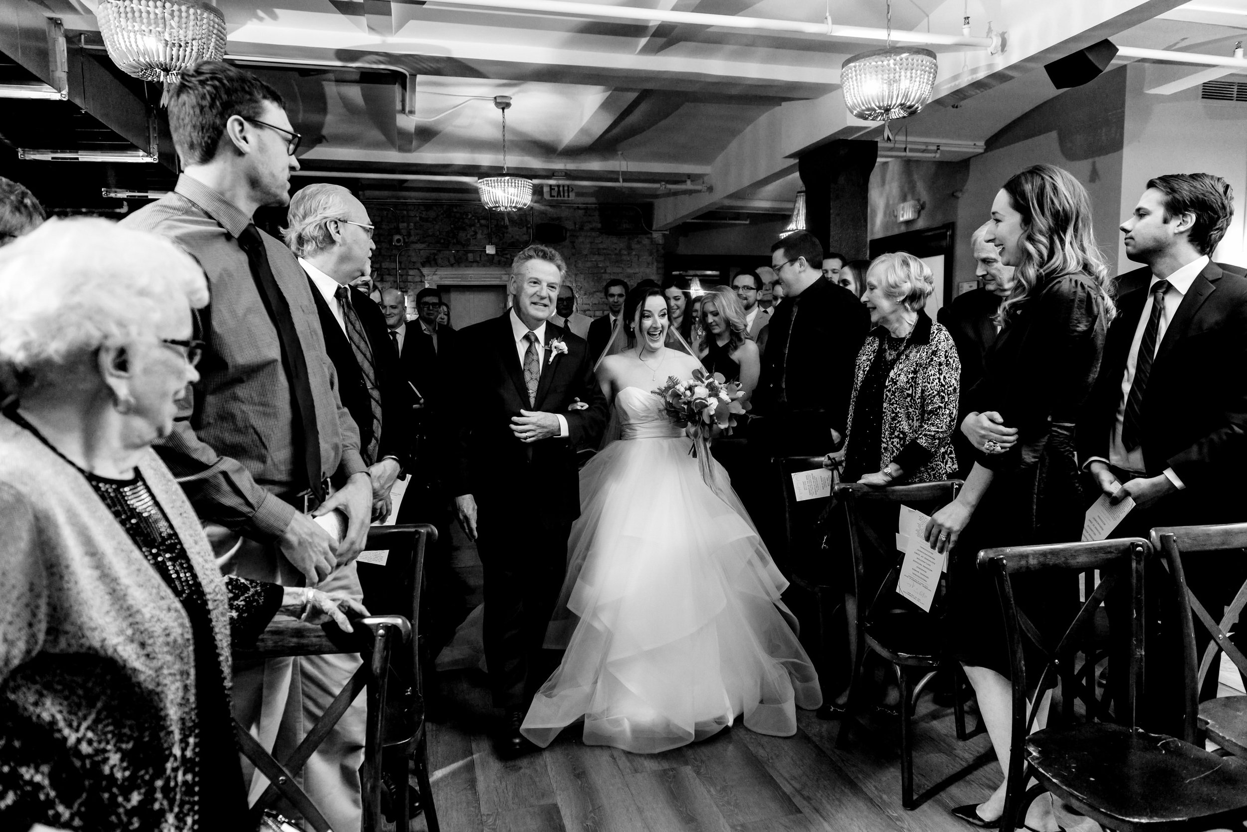 Megan and Alec - Lumber Exchange Wedding Sawyer Dylan Room - Highlights BW-183.jpg