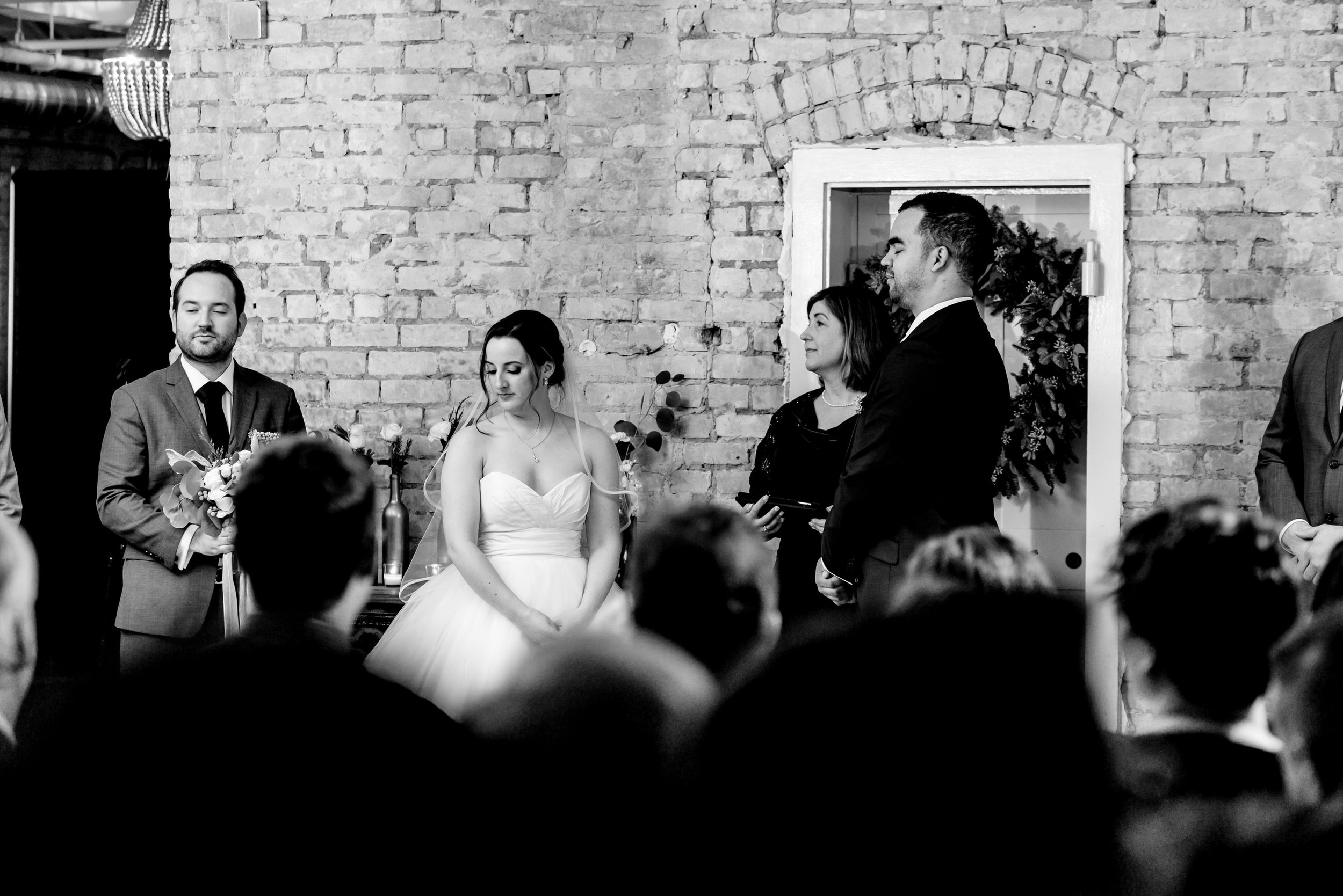 Megan and Alec - Lumber Exchange Wedding Sawyer Dylan Room - Highlights BW-189.jpg