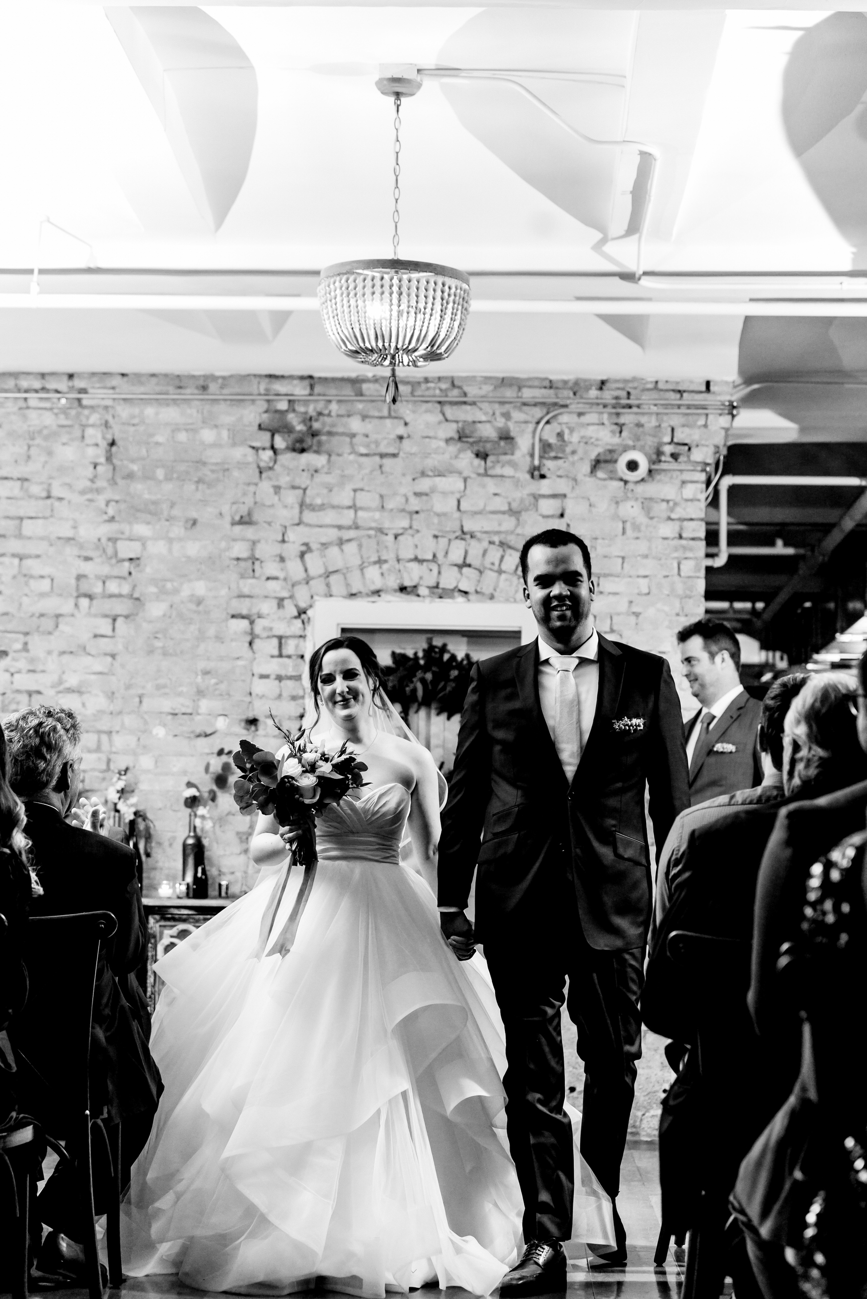 Megan and Alec - Lumber Exchange Wedding Sawyer Dylan Room - Highlights BW-206.jpg