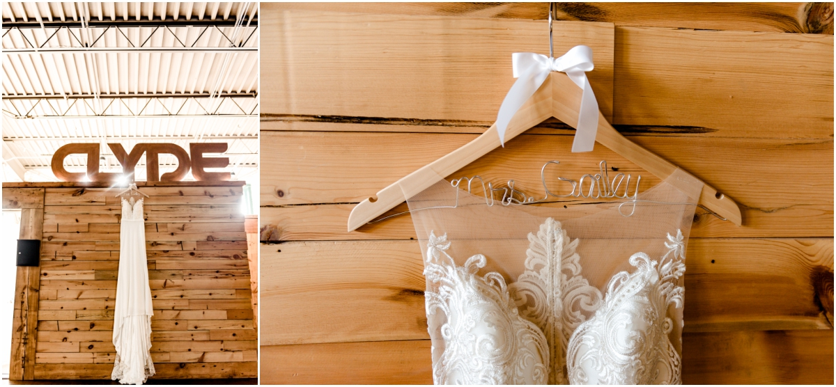 Clyde Iron Works Wedding Details with Bride Dress