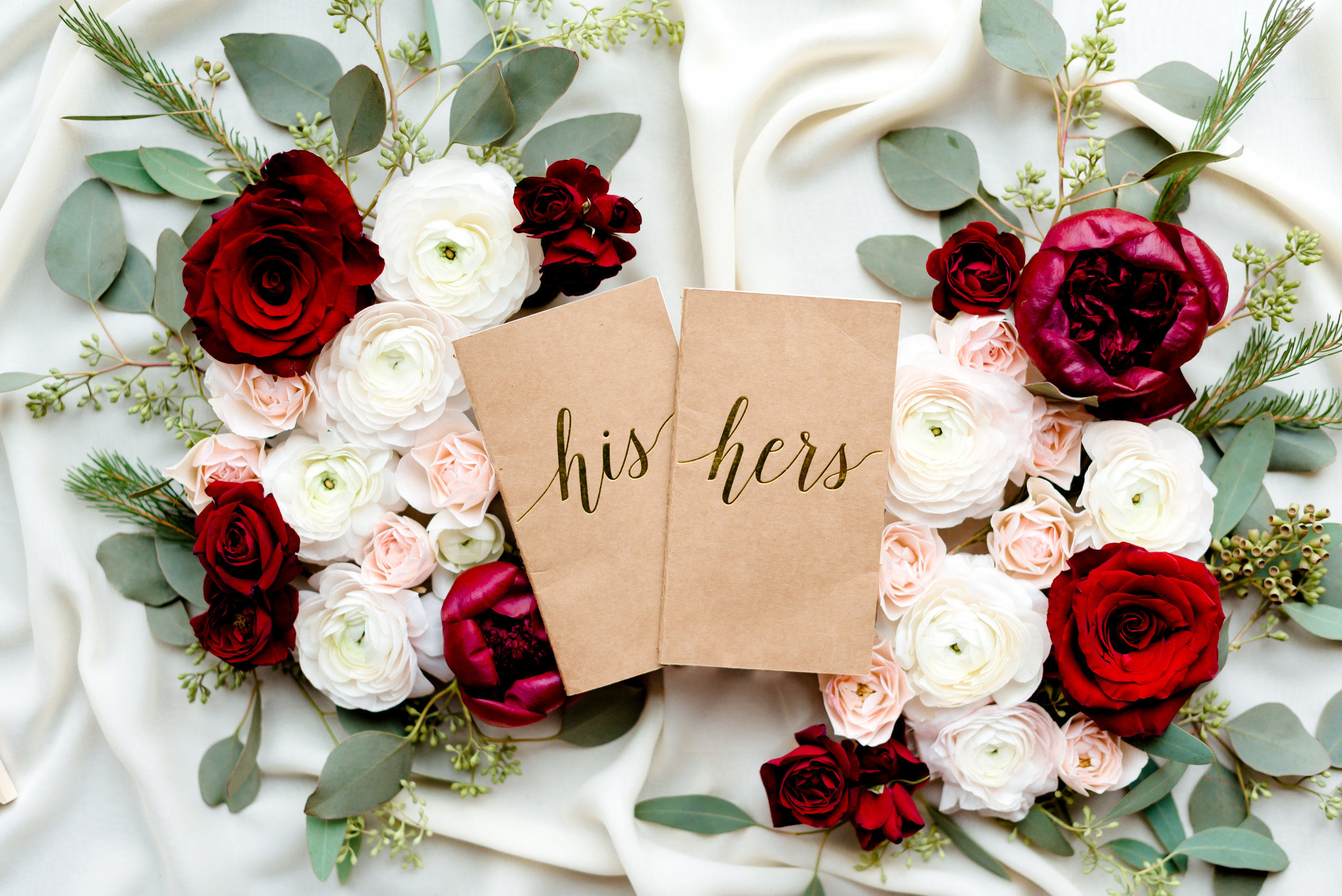 Custom Vow His and Hers Books for Luxury Destination Wedding in Duluth MN at Clyde Iron Works - MN Wedding Photographer