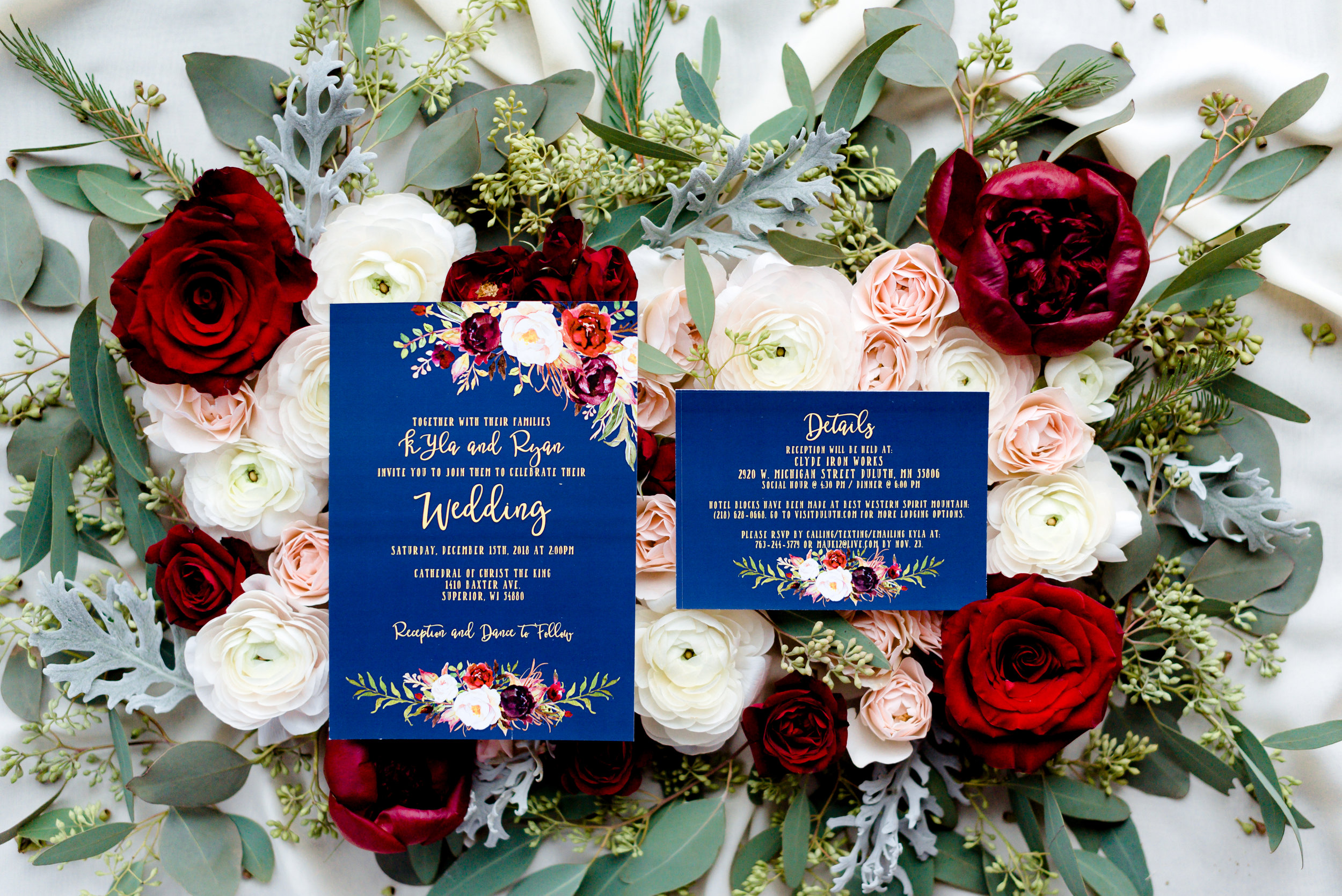 Luxury Wedding in Duluth MN - Destination Wedding Details Invitation Suite