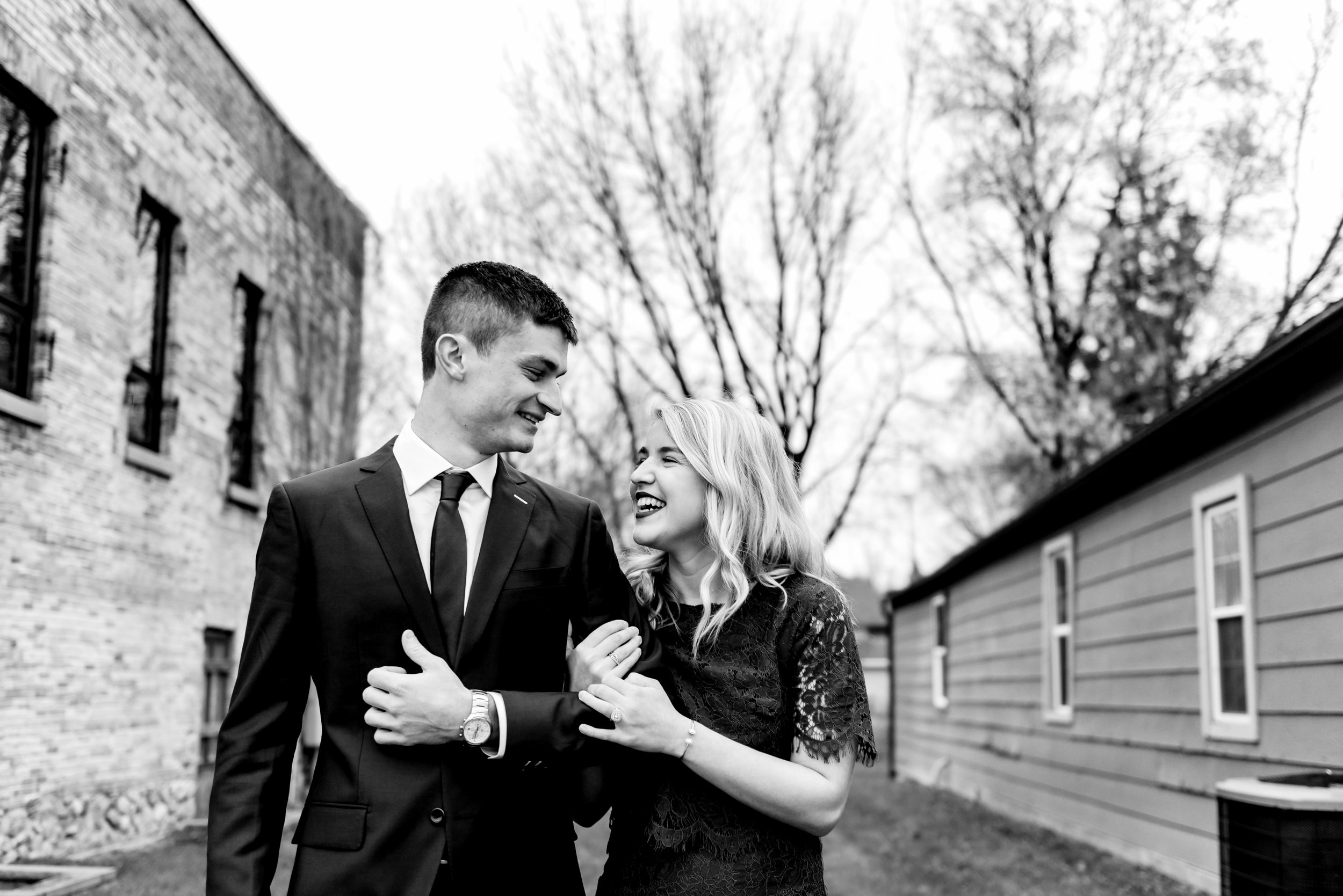 Kyla and Ryan - Twin Cities Engagement Photographer BW-17.jpg