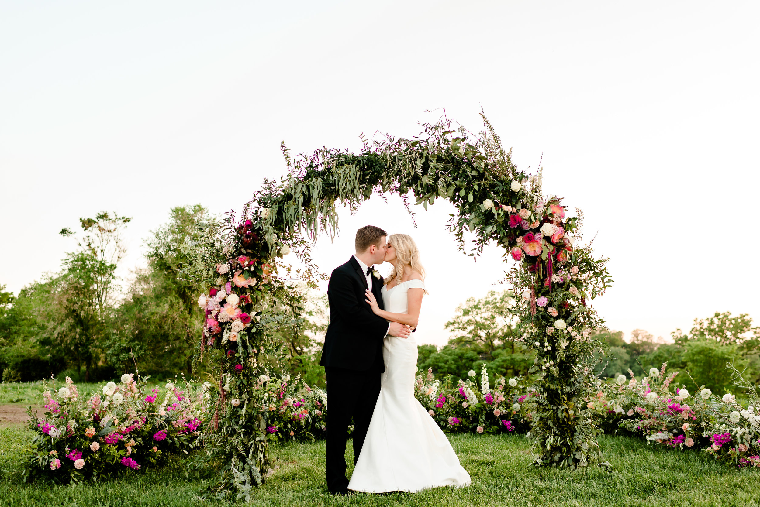 black-tie garden wedding - historic john p furber farm
