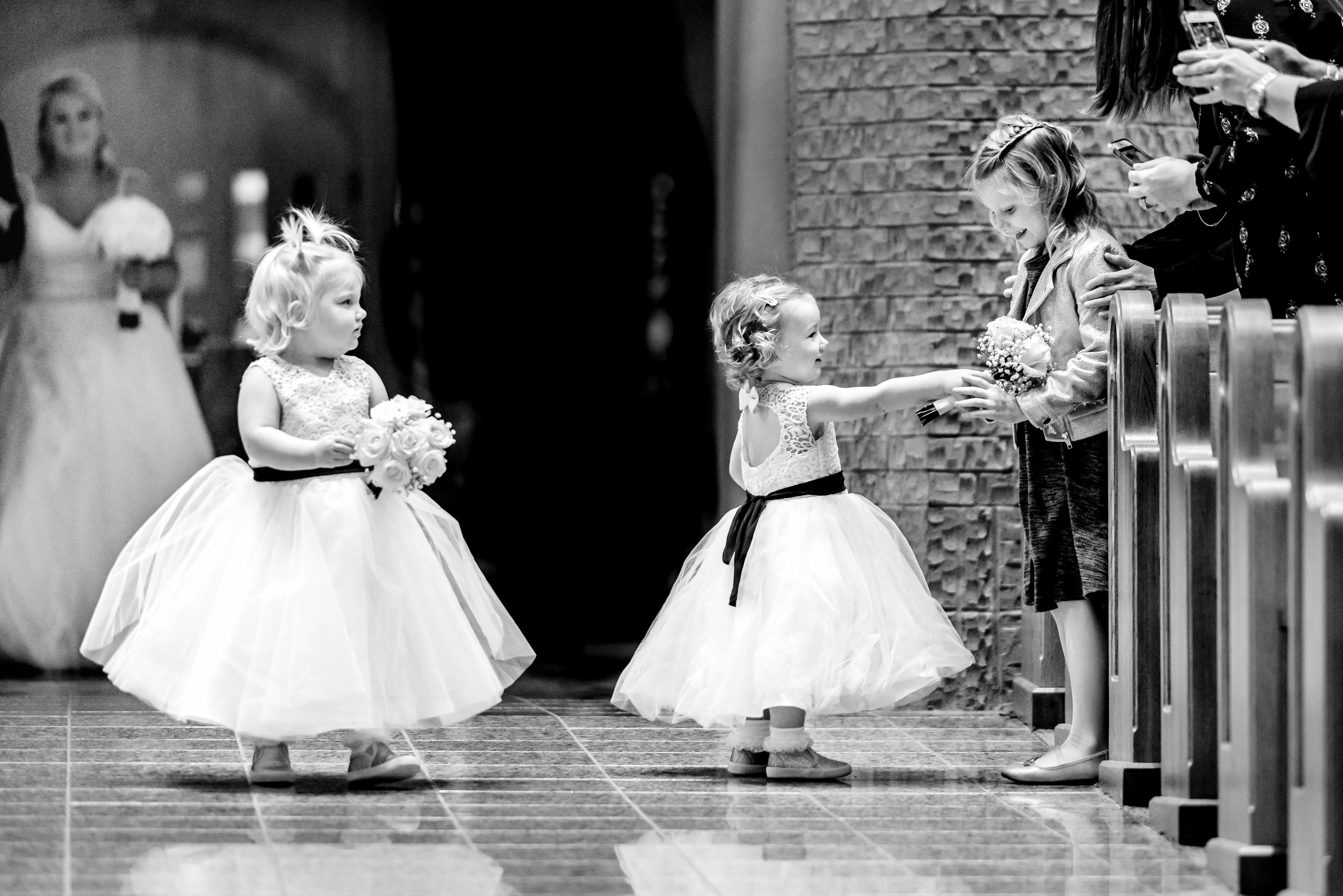Wedding Photojournalist MN - Flower Girls during Ceremony - Best MN Wedding Photographer