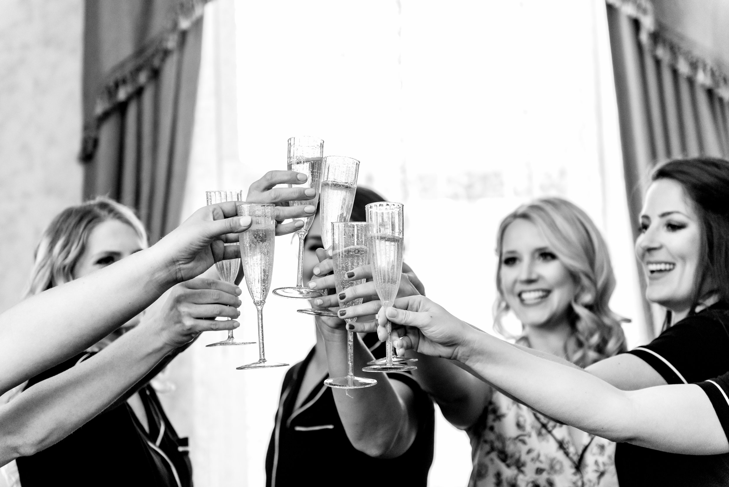 The Depot Hotel Wedding - Bride and Bridesmaids - Wedding Photographers MN