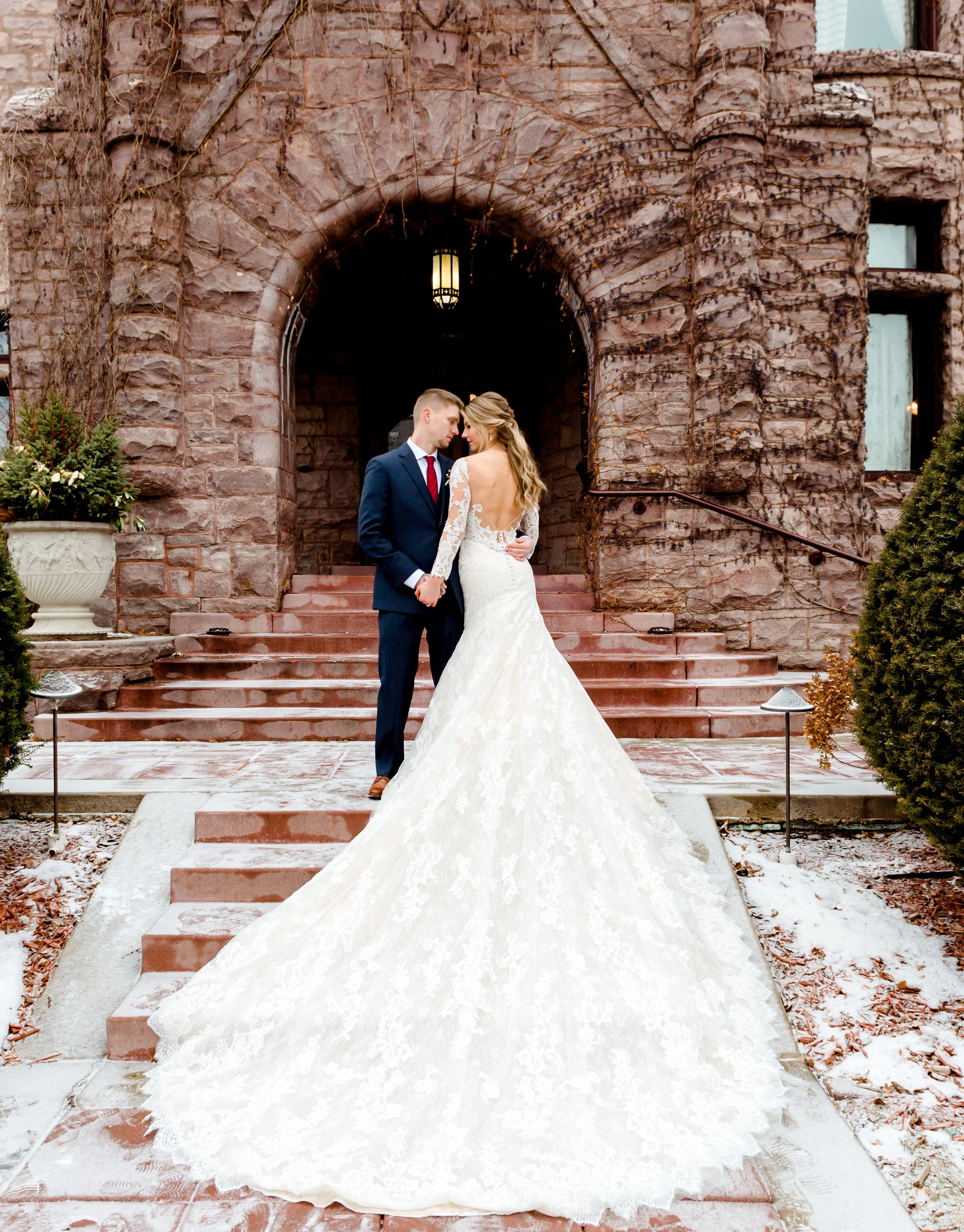 Van Dusen Mansion Castle Wedding - Romantic Princess Wedding Photos in Minneapolis - Best MN Wedding Photographer