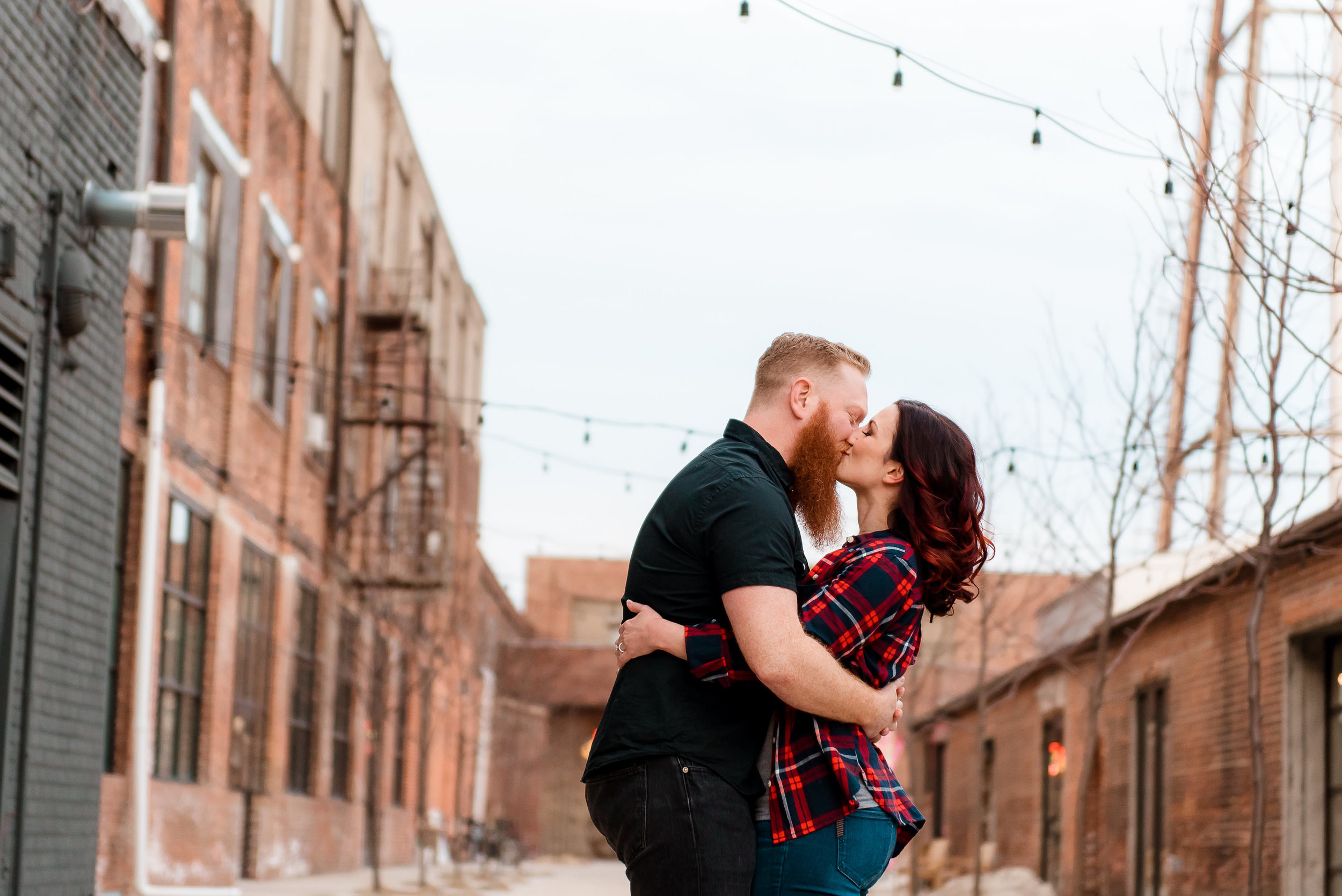 brewery date night engagement - St. PAUl, MN