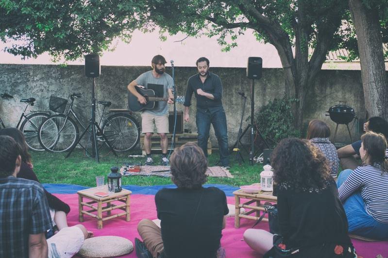 Thomas Skrobek et François Guedon lors des concerts chez vous
