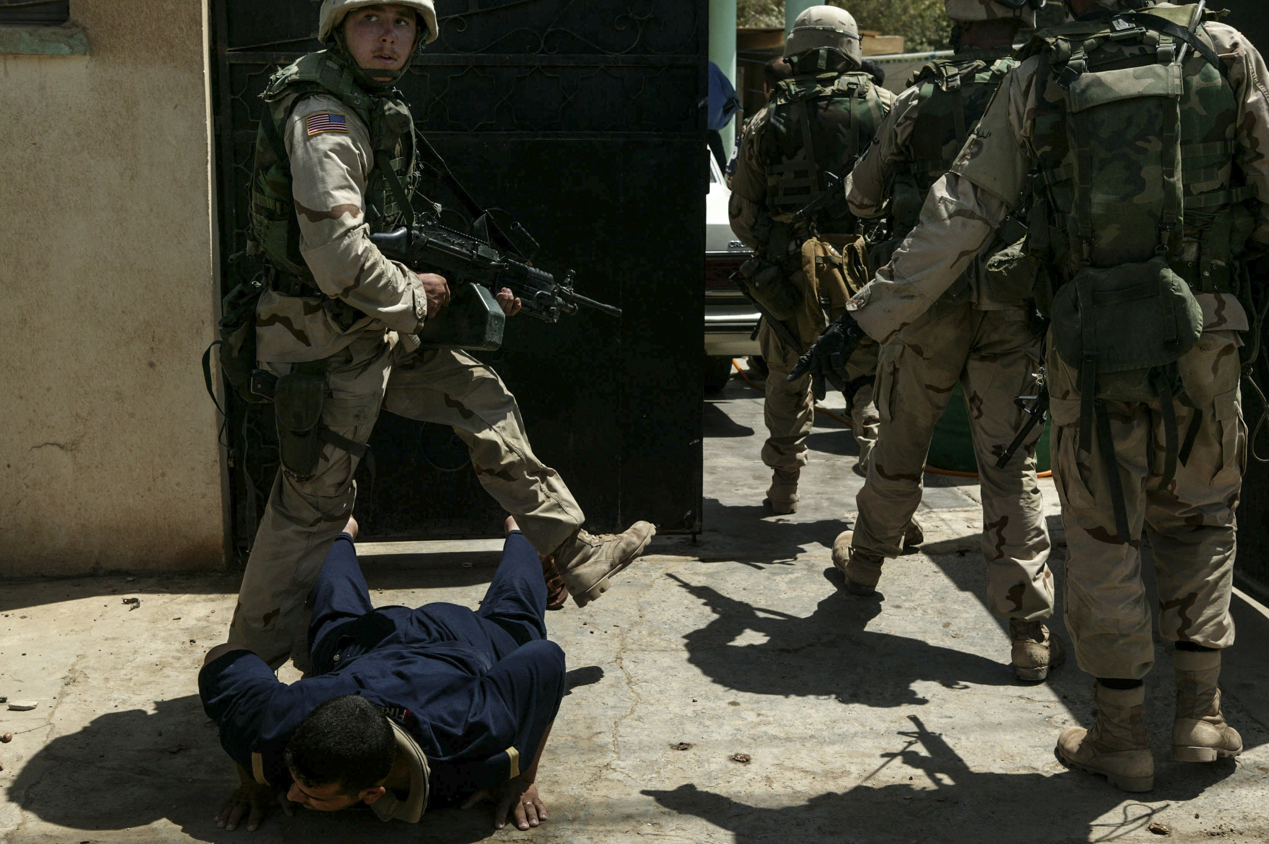 US soldiers entered a house to search for reported rocket propelled grenades (RPGs). After the raid, which turned up no weapons,the military realized they had entered the wrong house.