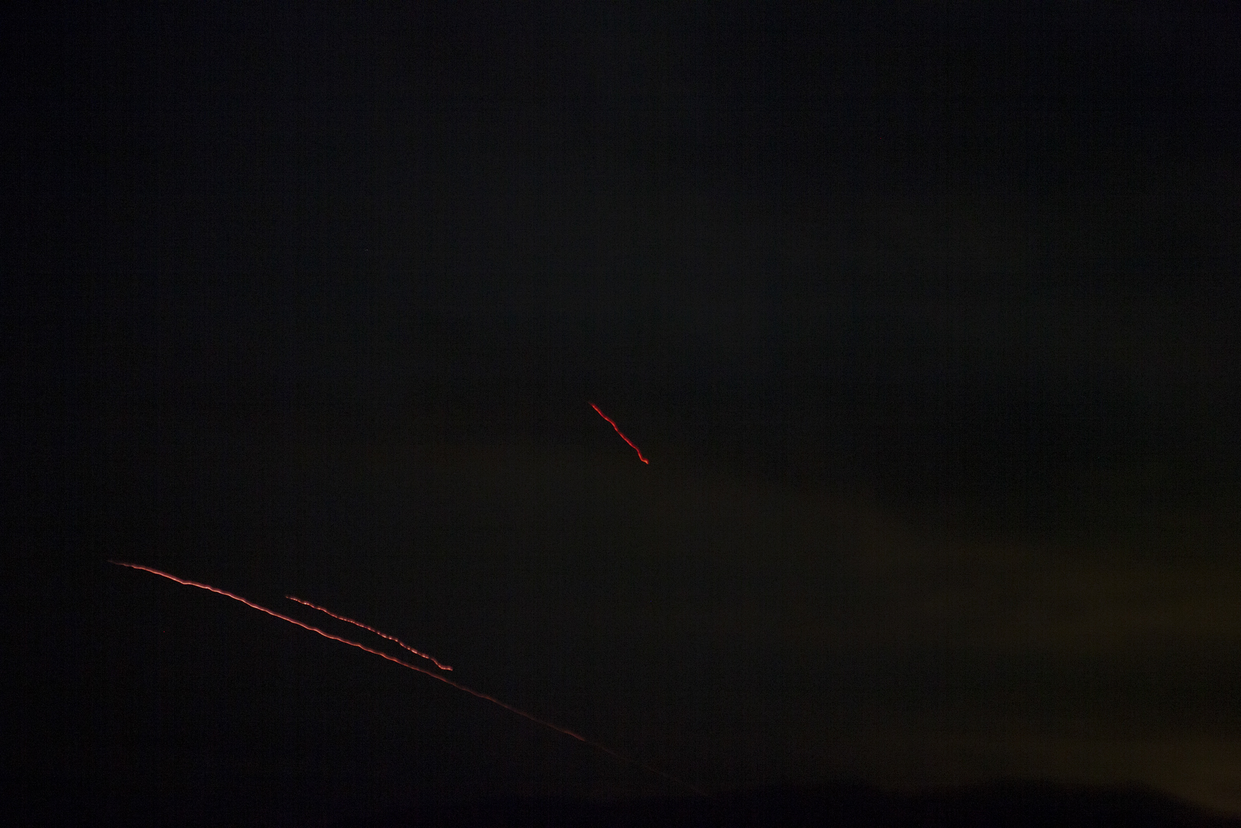 Tracers fired at Azerbaijani drones on April 4.