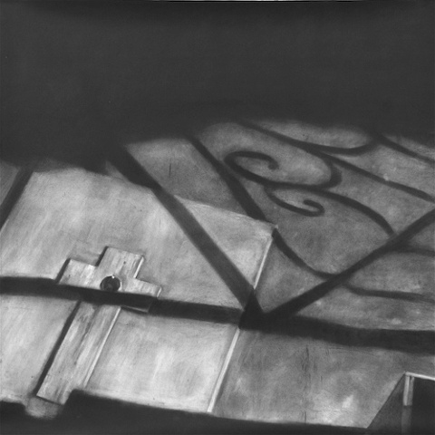 """Untitled (Memorial) , 2006 Charcoal on paper 60"""" sq."""