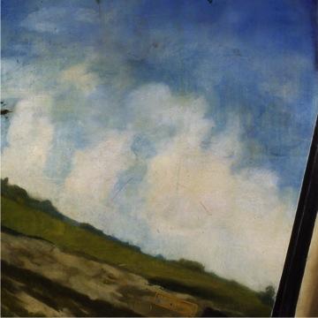 "Roadtrip (Kemmons Wilson's Dream, 3) , 1996 Encaustic on panel 60"" sq."
