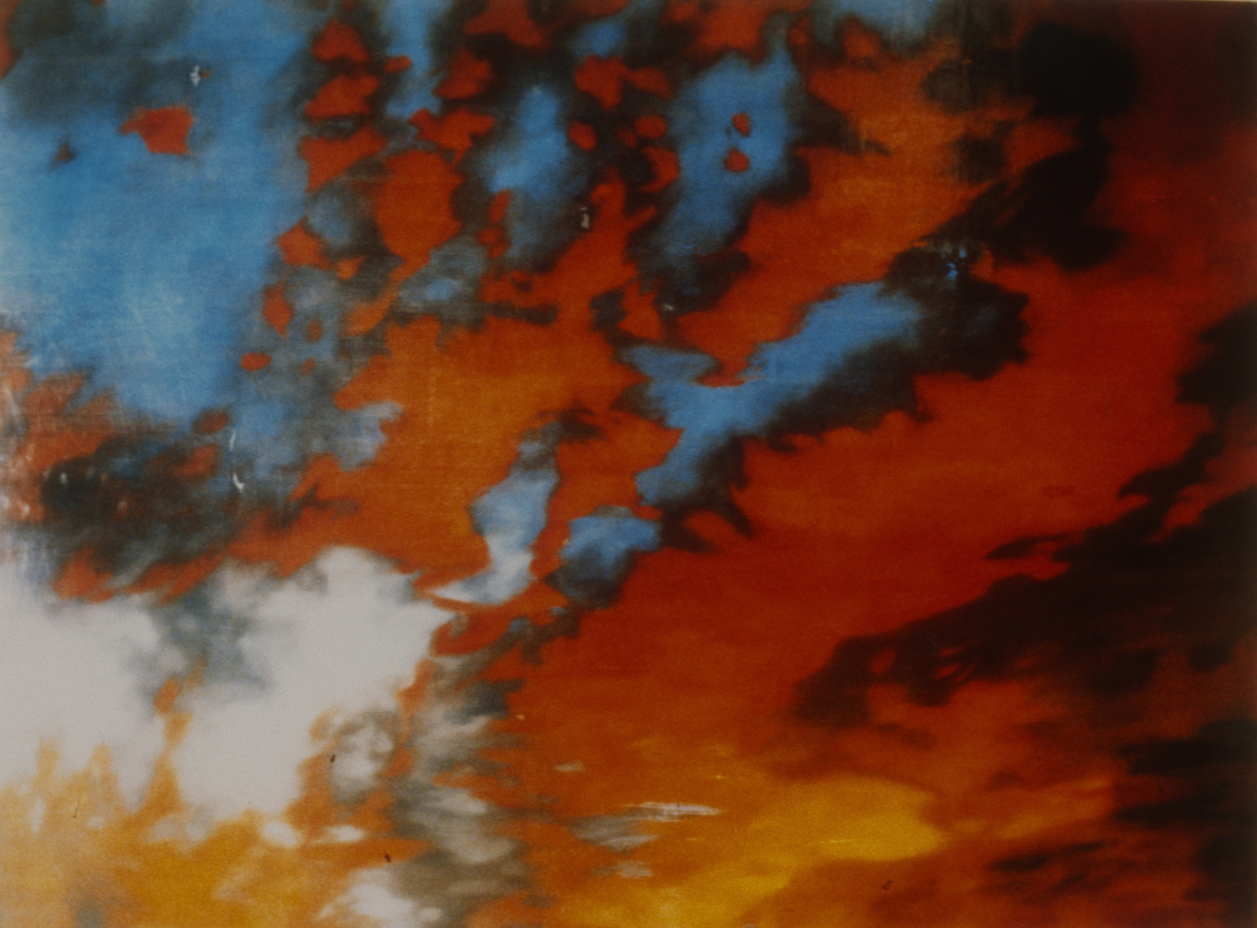 """Nobilis Sublimis II (Thank you F.E. Church) , 1995 Encaustic on panel 72"""" x 84""""   private collection, Bloomfield Hills, MI"""