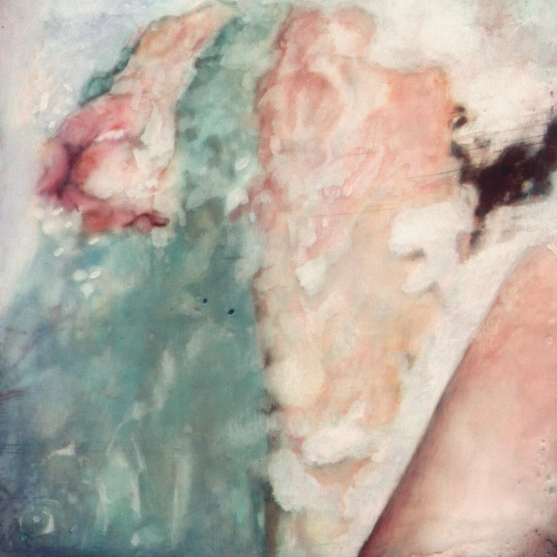 """Untitled (Tub) ,2002 Encaustic on panel 8.5"""" sq."""