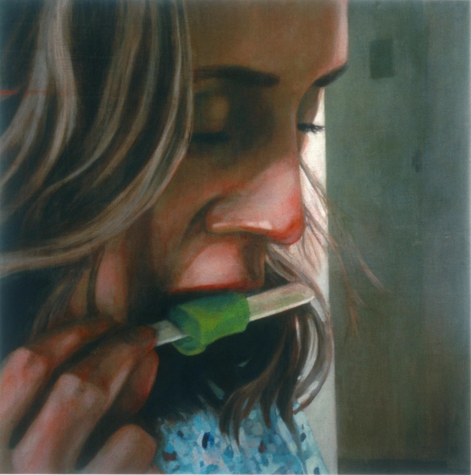 "Untitled (Repose) ,2005 Encaustic on panel 72"" sq."